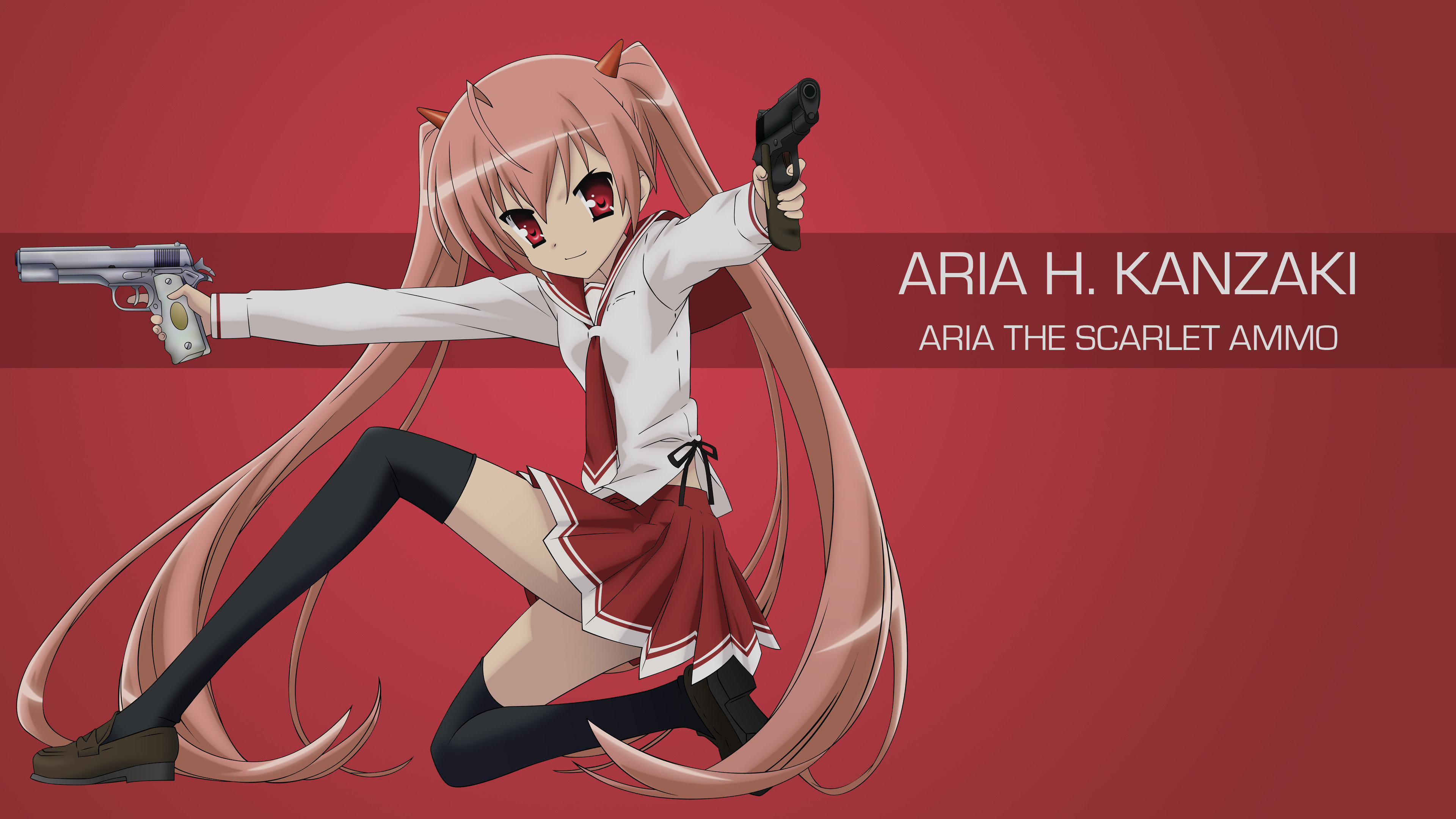 Free download Aria The Scarlet Ammo background ID:446923 4k for PC