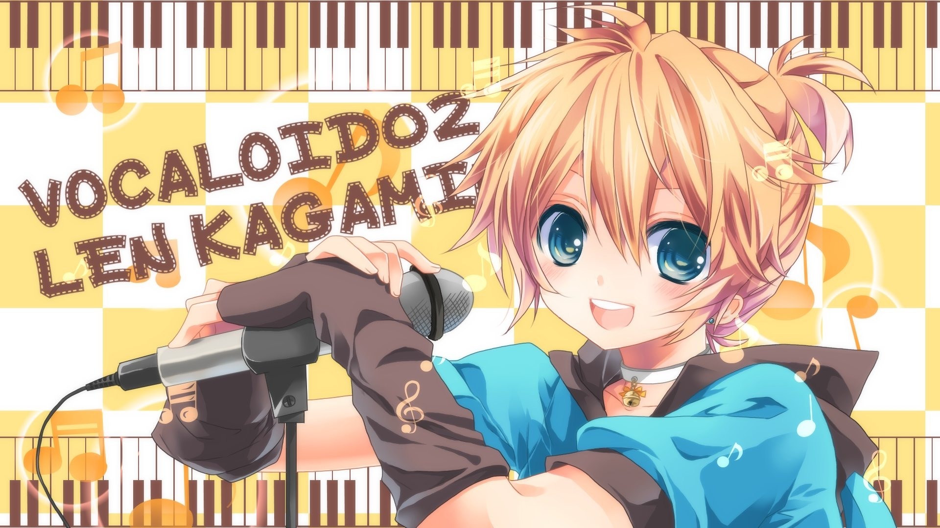 High resolution Len Kagamine hd 1080p background ID:3519 for PC