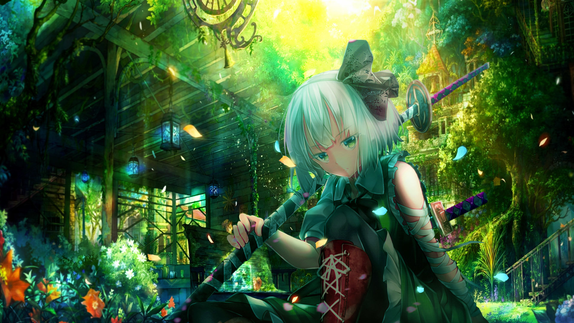 Best Youmu Konpaku background ID:221726 for High Resolution full hd 1920x1080 PC