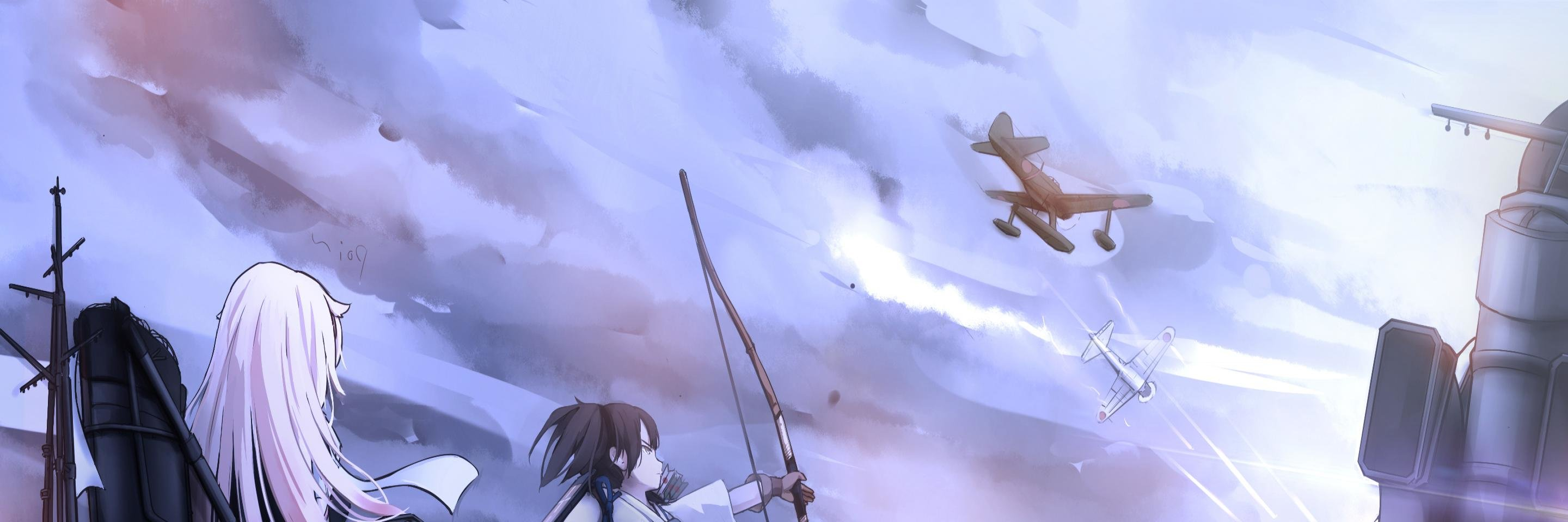 Download dual monitor 2880x960 Kantai Collection PC background ID:331093 for free