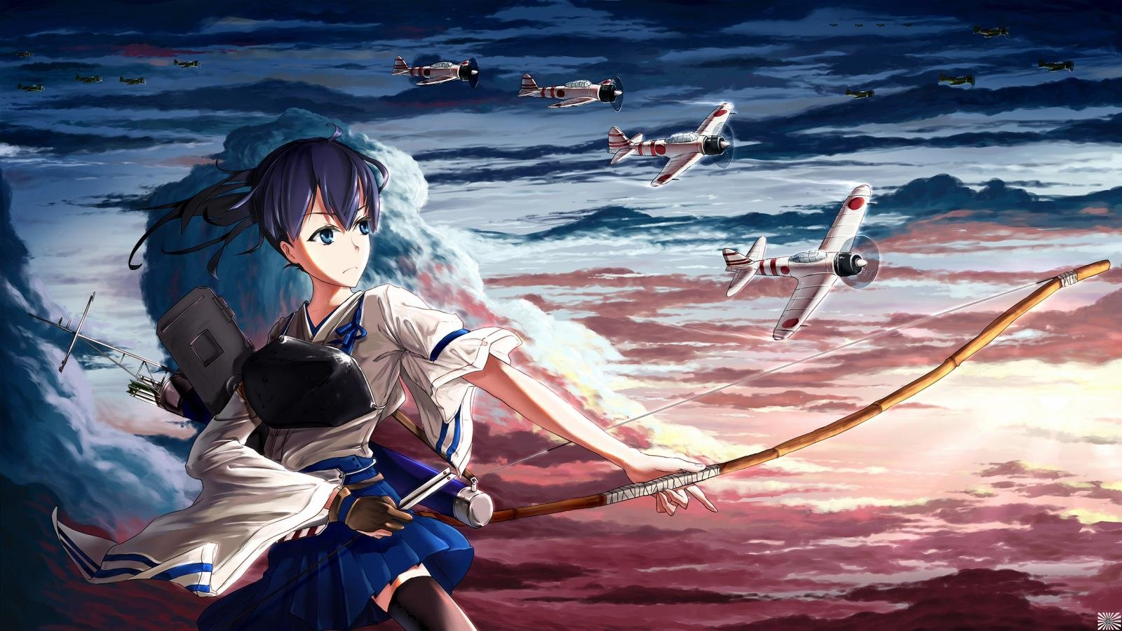 Download hd 1600x900 Kantai Collection desktop background ID:331407 for free