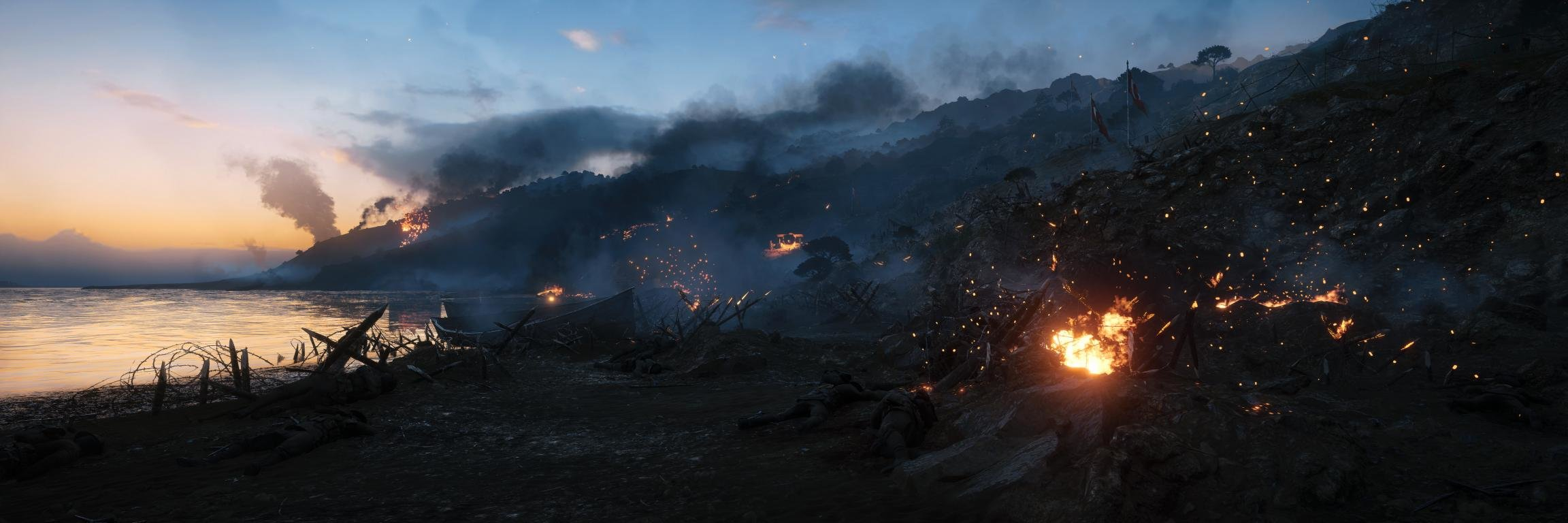 Best Battlefield 1 background ID:497965 for High Resolution dual screen 2304x768 desktop
