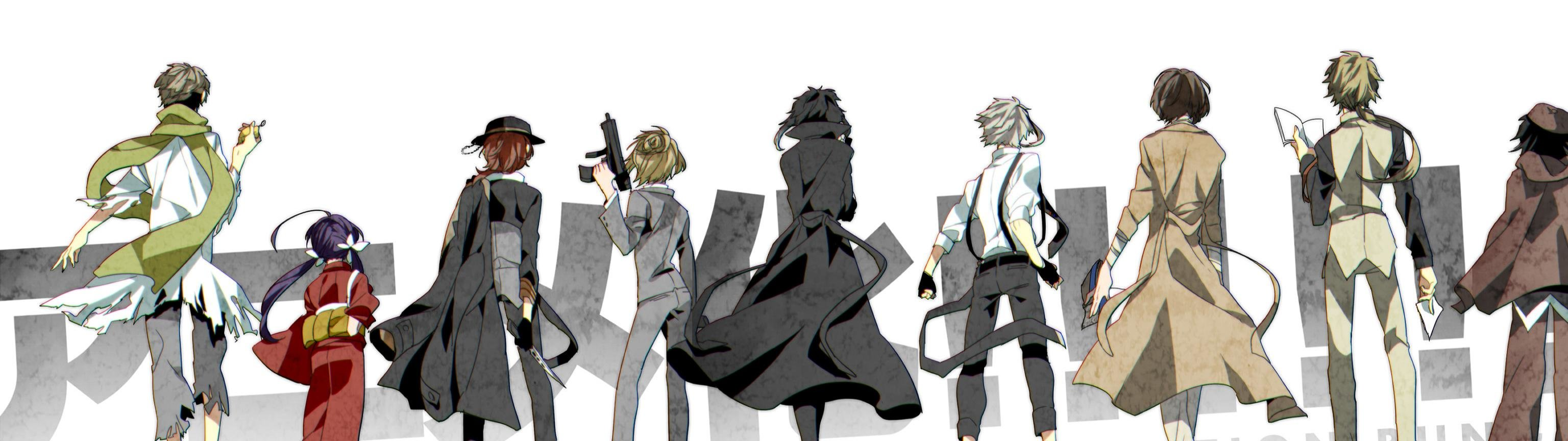 bungou stray dogs bsd background dual screen 3072x864 151526