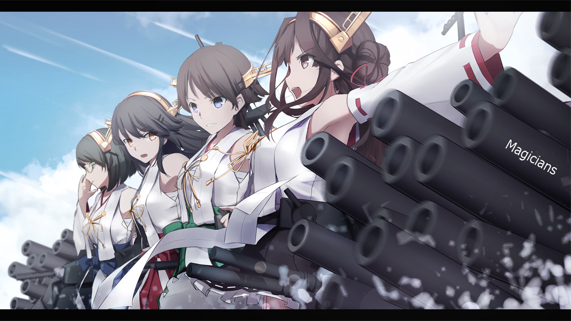 Best Kongou (Kancolle) background ID:331190 for High Resolution full hd 1080p PC
