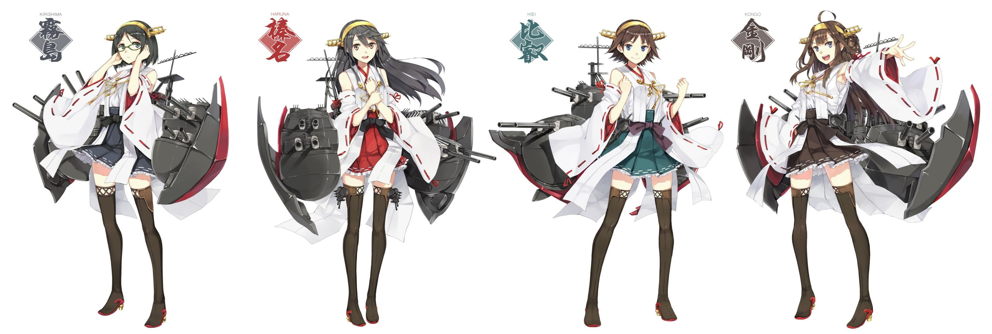 Free download Kongou (Kancolle) background ID:332094 hd 3200x1080 for PC