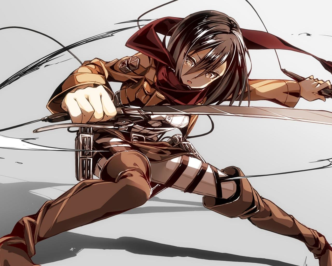 Download hd 1280x1024 Mikasa Ackerman desktop background ID:206340 for free