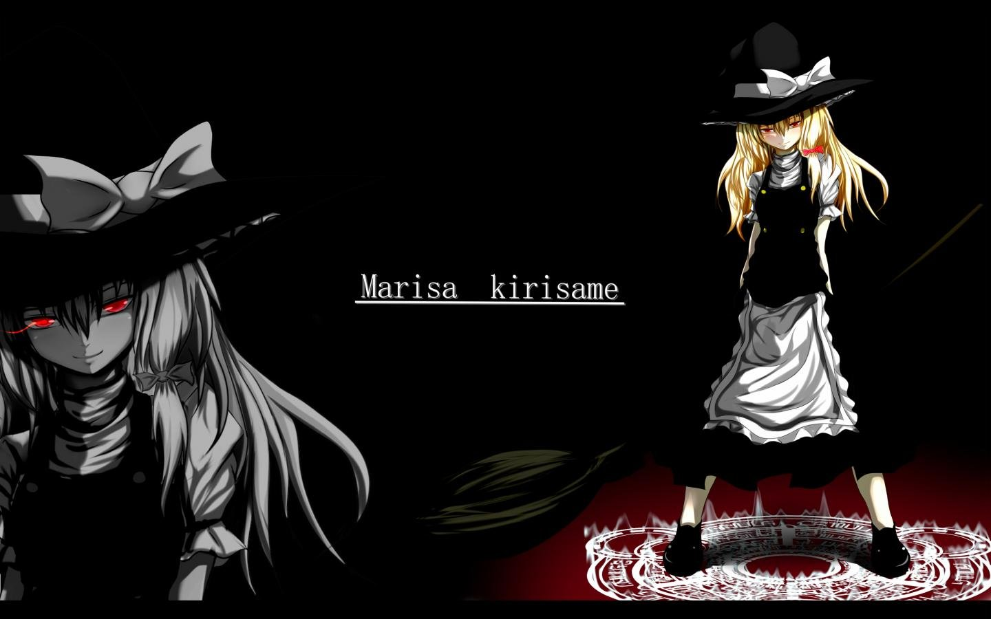 Best Marisa Kirisame background ID:224521 for High Resolution hd 1440x900 PC