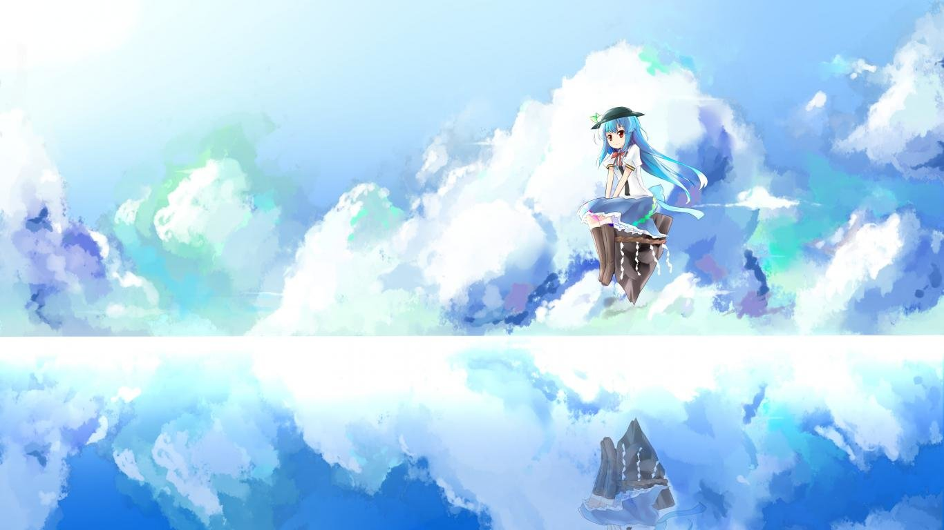 High resolution Tenshi Hinanawi hd 1366x768 background ID:224534 for PC
