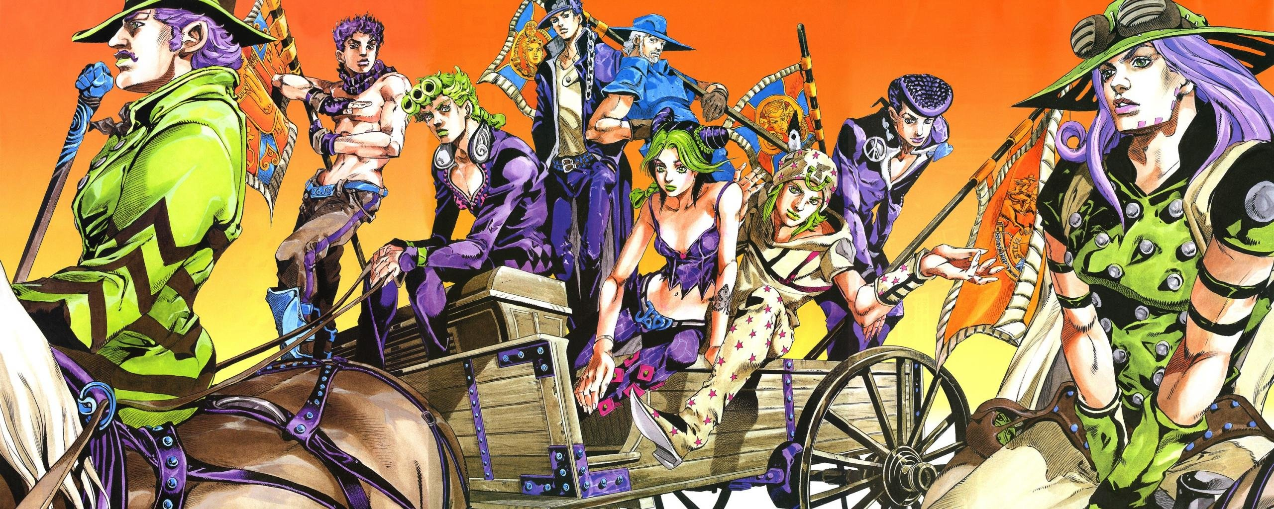 Download dual screen 2560x1024 Jojo's Bizarre Adventure computer background ID:297296 for free
