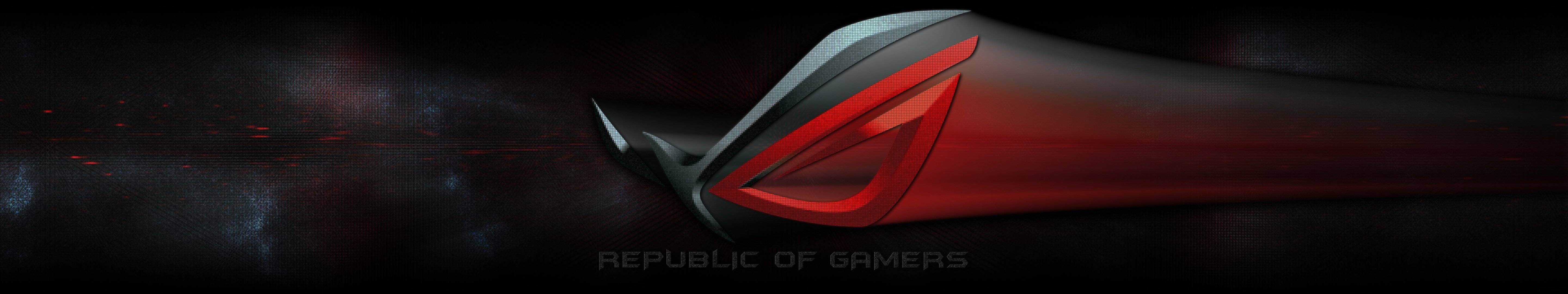 High resolution Republic Of Gamers (ROG) triple monitor 5760x1080 wallpaper ID:390668 for computer
