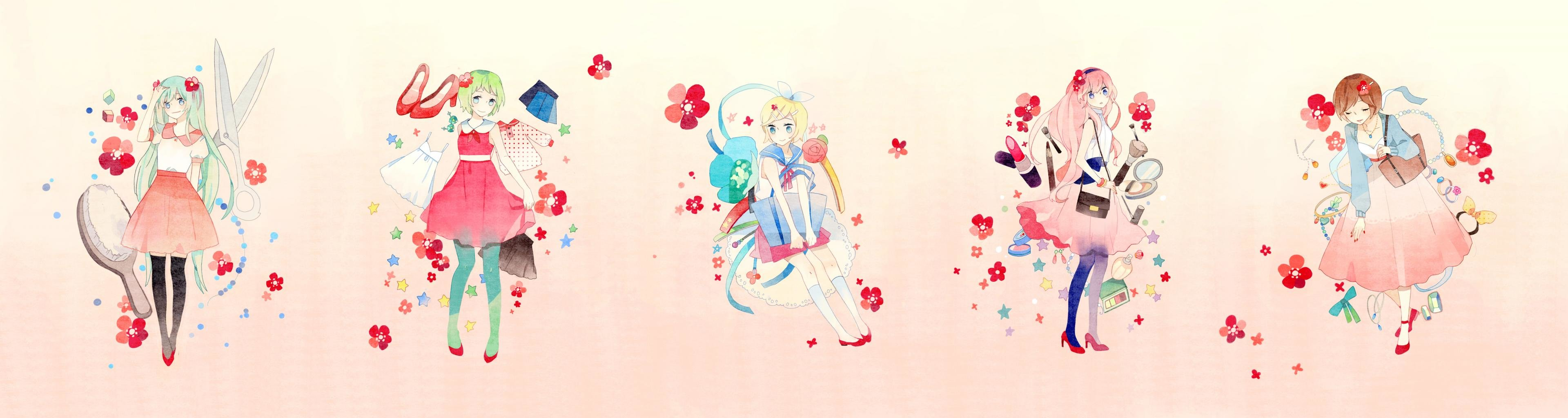 High resolution Vocaloid triple monitor 3840x1024 wallpaper ID:6045 for PC