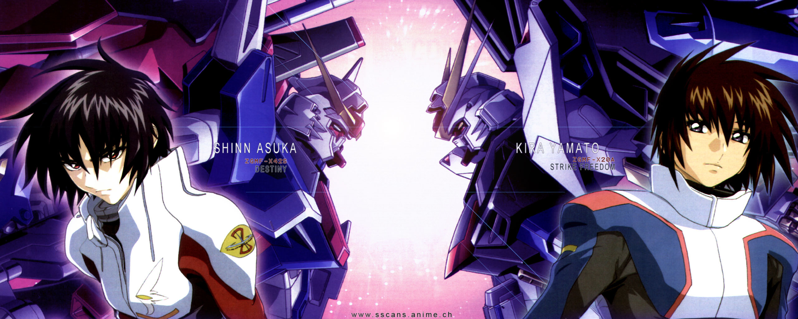 Free Mobile Suit Gundam Seed Destiny high quality background ID:298322 for dual screen 2560x1024 computer