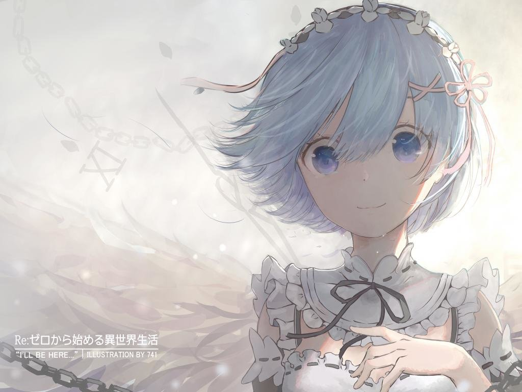 Free download Rem (Re:ZERO) wallpaper ID:159045 hd 1024x768 for PC