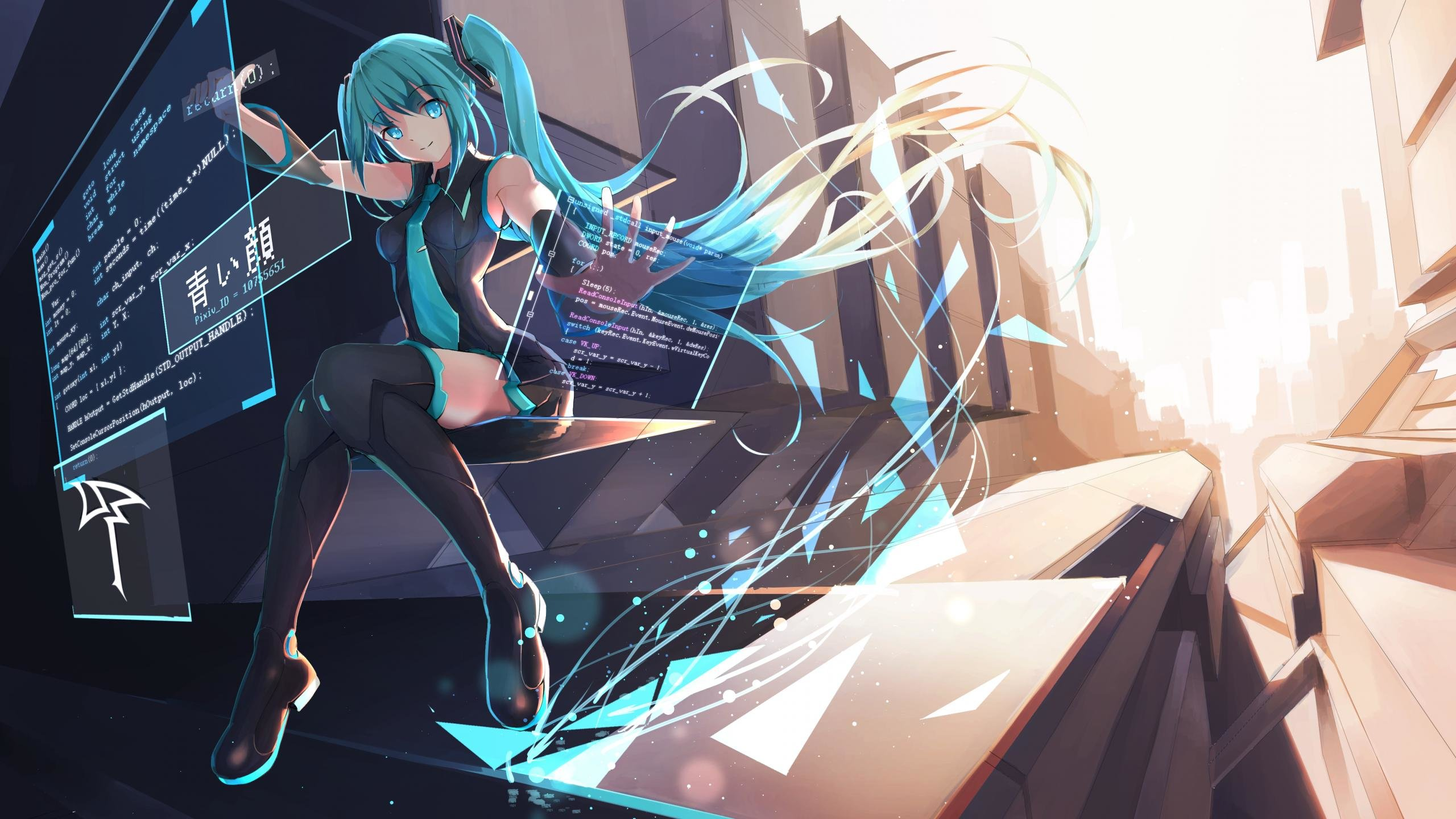 Free download Hatsune Miku background ID:2098 hd 2560x1440 for computer