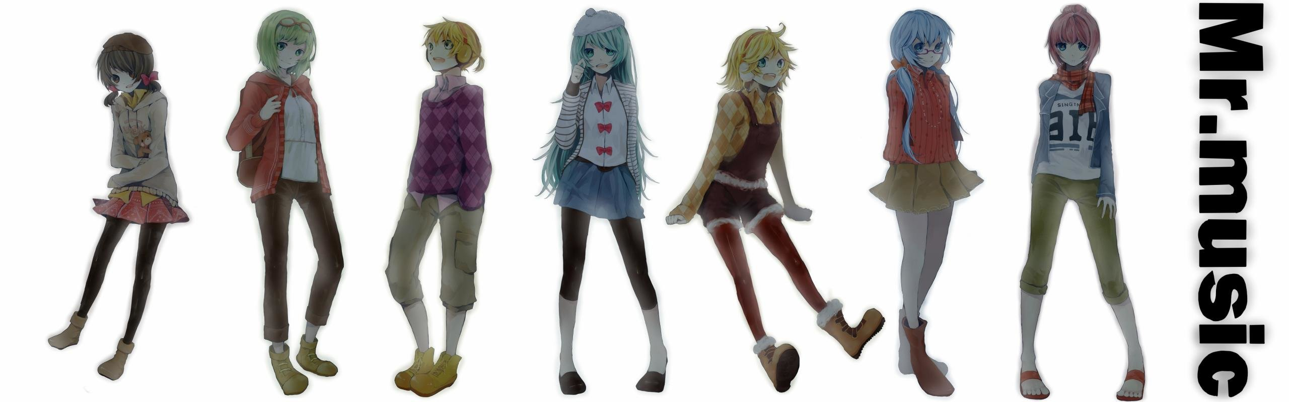 Awesome Vocaloid free background ID:5818 for dual screen 2560x800 PC