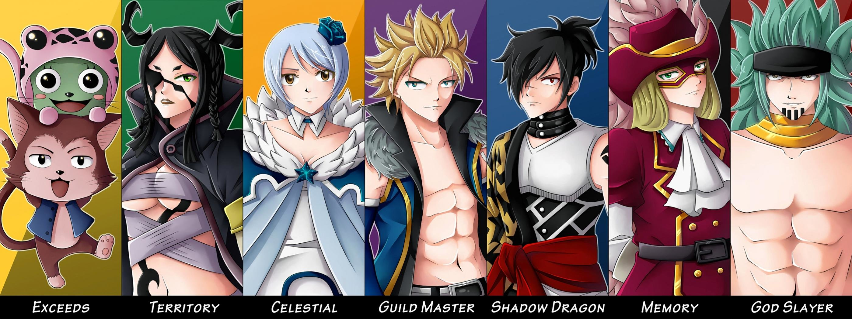 Awesome Fairy Tail free wallpaper ID:41325 for dual monitor 2800x1050 PC