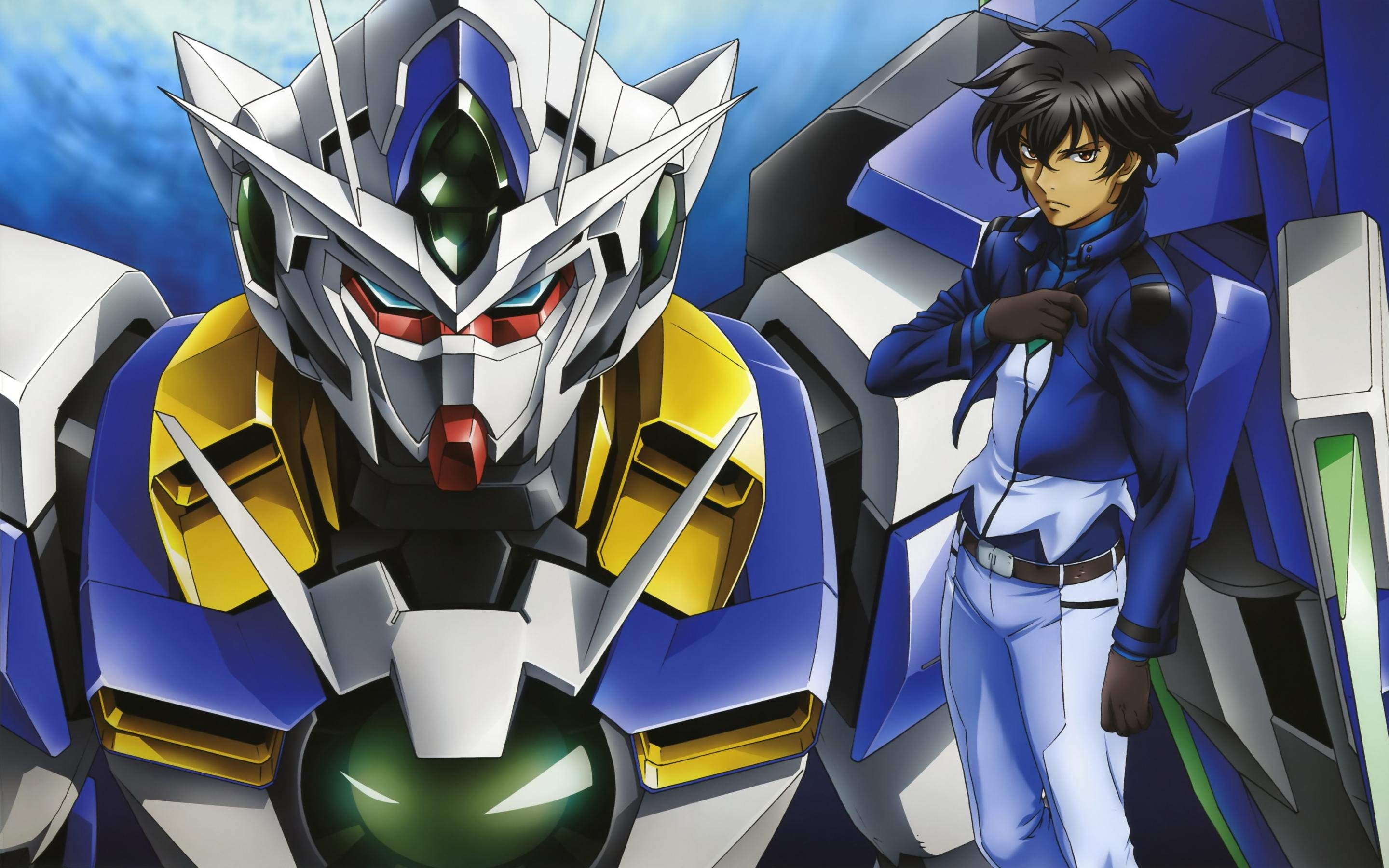High resolution Mobile Suit Gundam 00 hd 2880x1800 background ID:83273 for desktop
