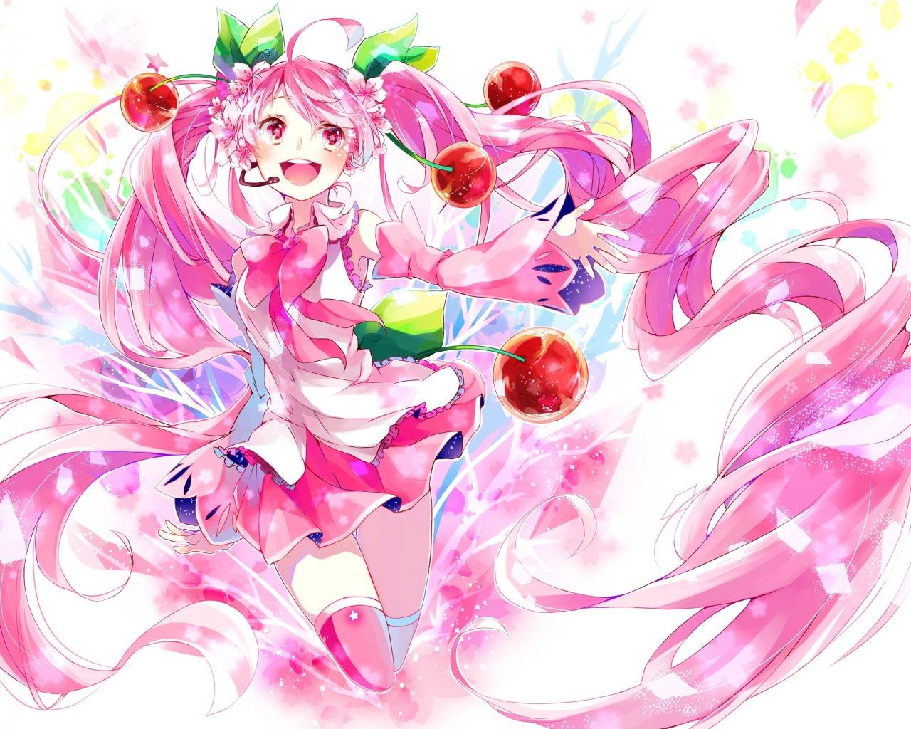 Download hd 1280x1024 Sakura Miku PC background ID:5065 for free