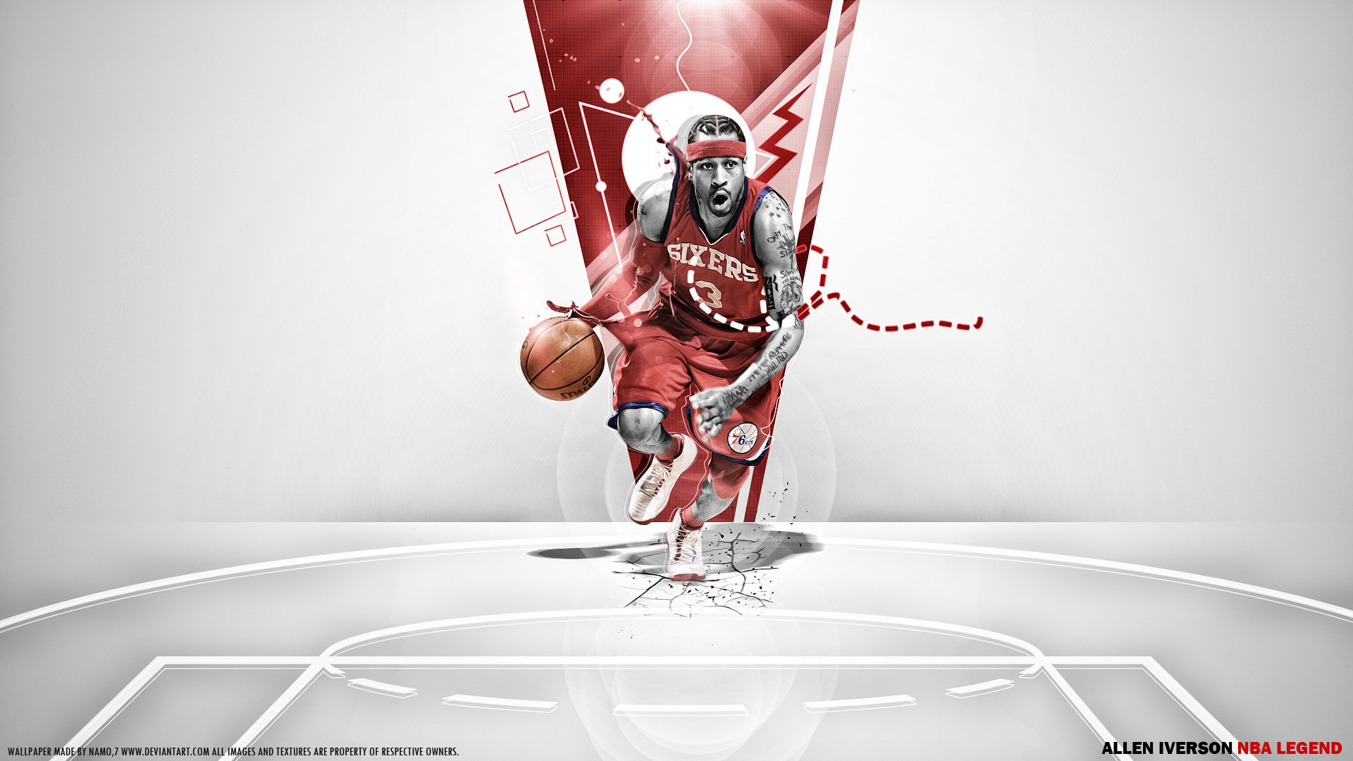 Awesome Allen Iverson free background ID:53360 for full hd PC