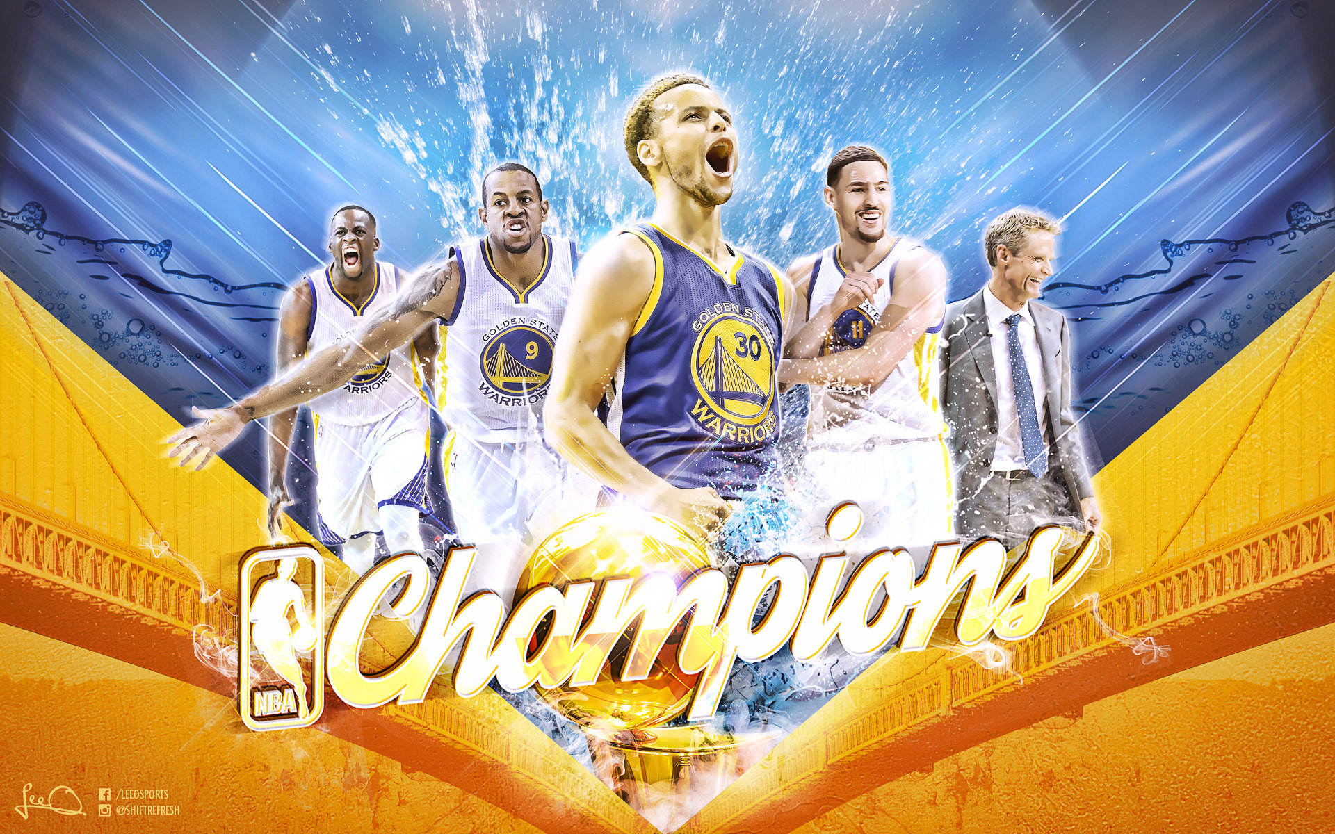 High resolution Golden State Warriors hd 1920x1200 background ID:470669 for PC