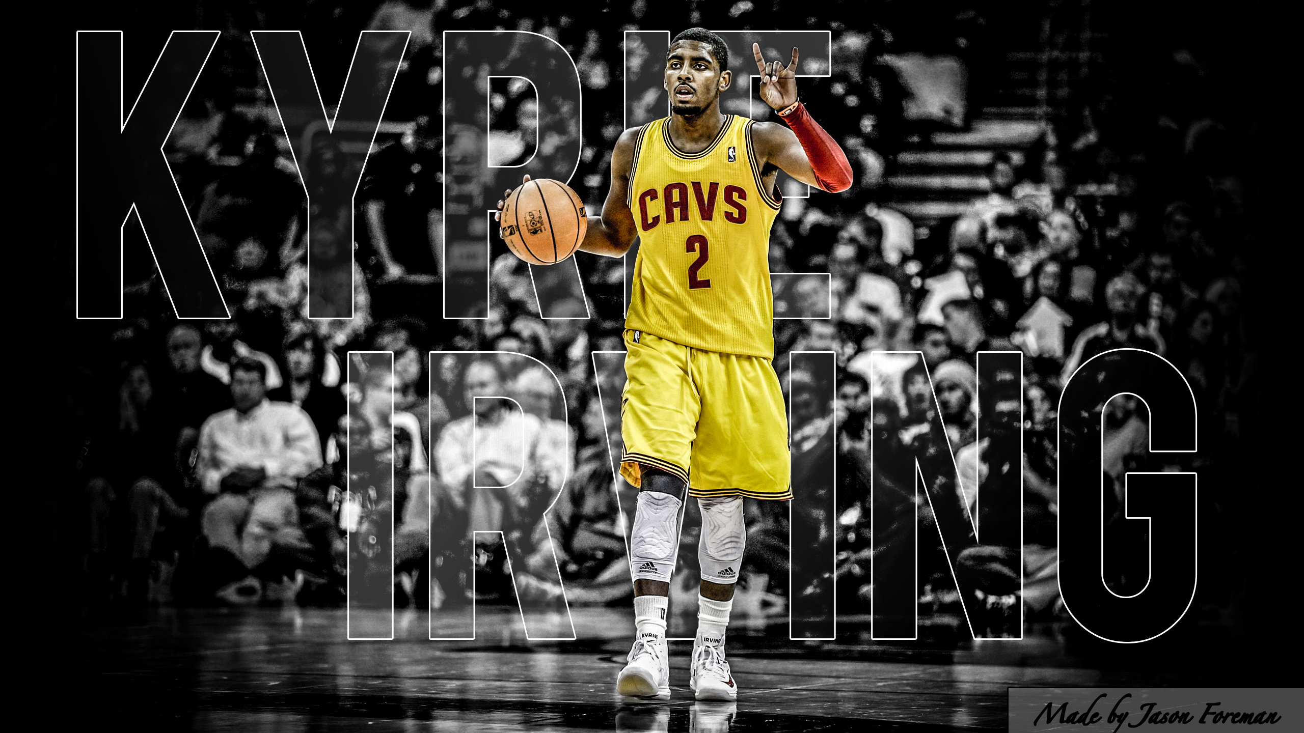 Download hd 2560x1440 Kyrie Irving desktop wallpaper ID:131774 for free