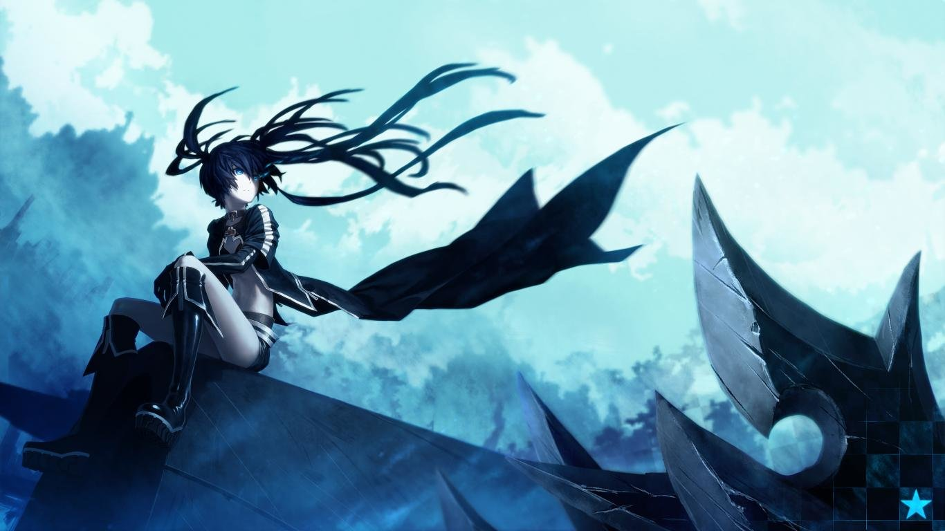 Free download Black Rock Shooter background ID:454911 hd 1366x768 for computer