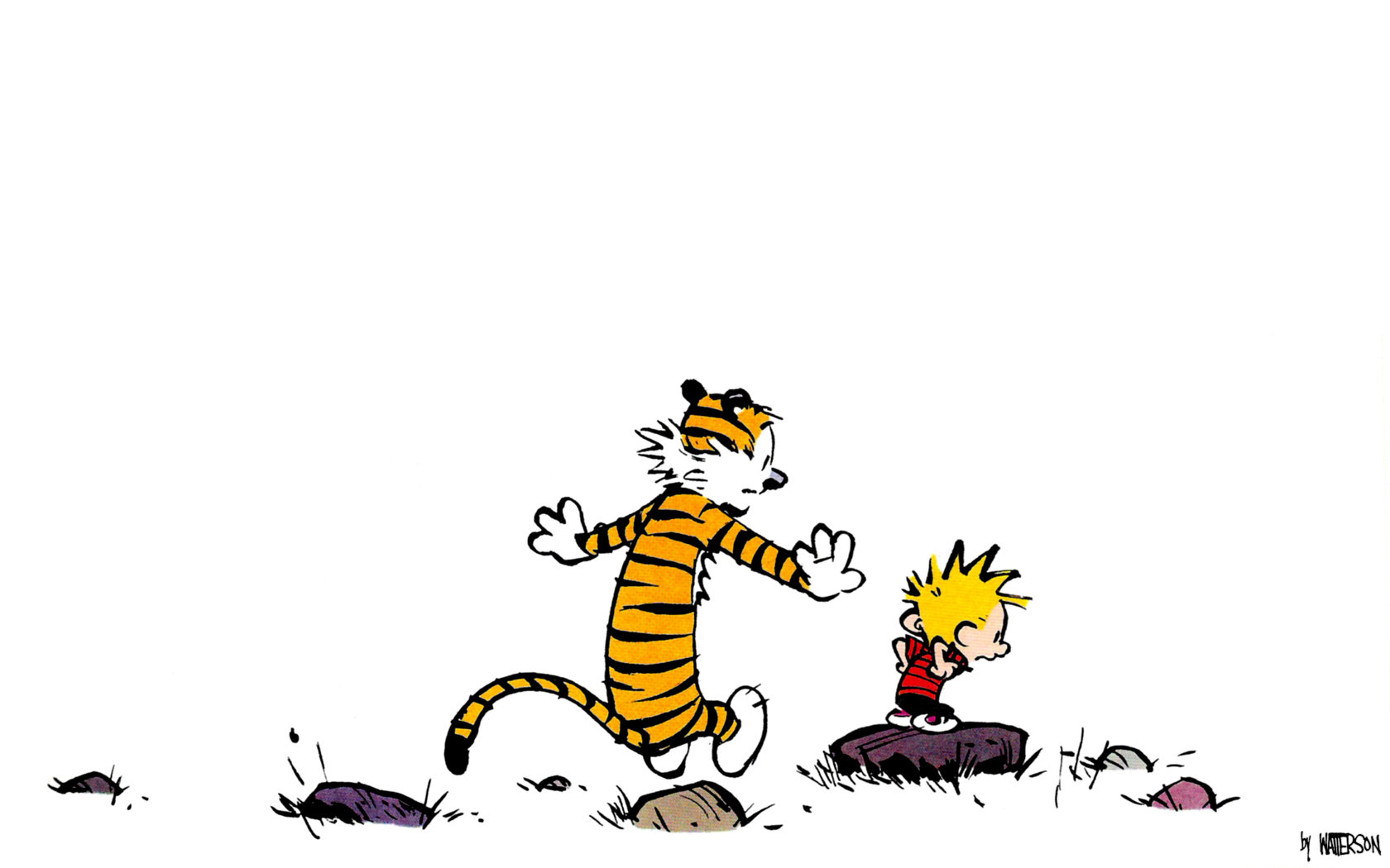 Free download Calvin and Hobbes background ID:211347 hd 1680x1050 for PC
