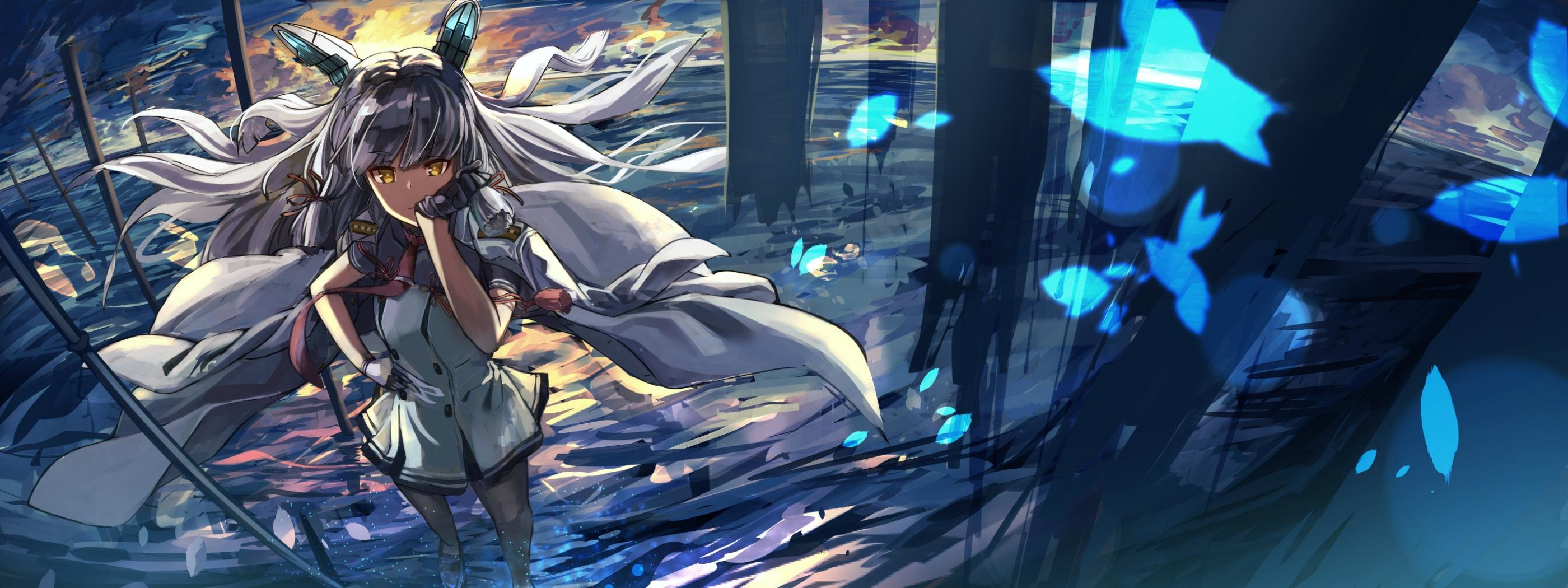 Awesome Kantai Collection free wallpaper ID:331880 for dual screen 2800x1050 PC