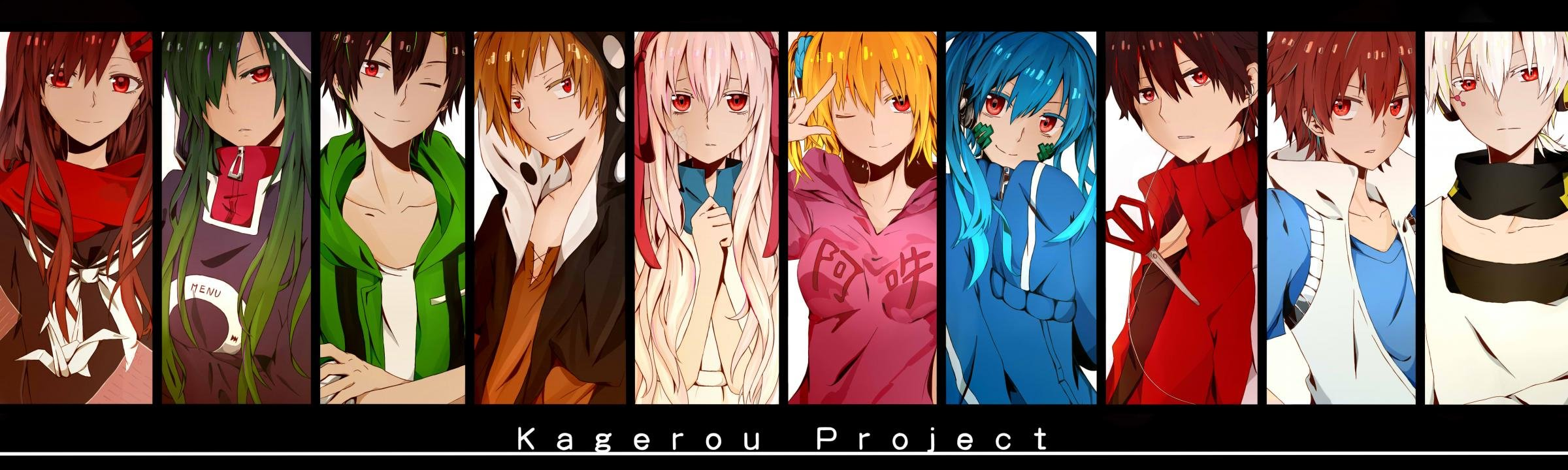 High resolution Kagerou Project dual screen 2400x720 background ID:134332 for PC