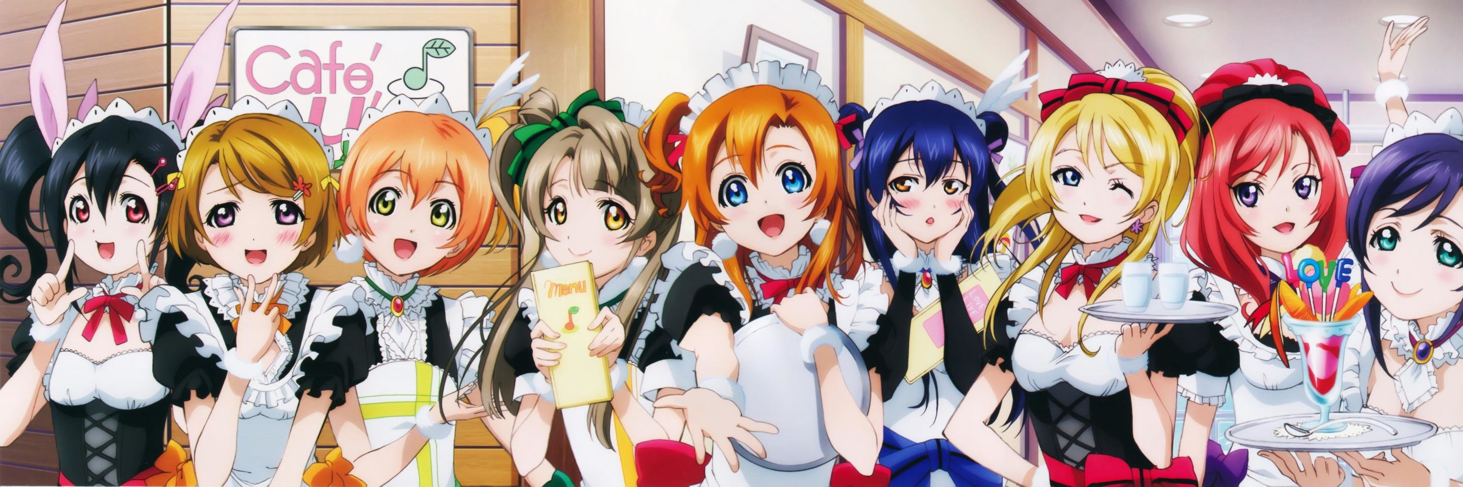 High resolution Love Live! dual monitor 2880x960 wallpaper ID:152238 for desktop