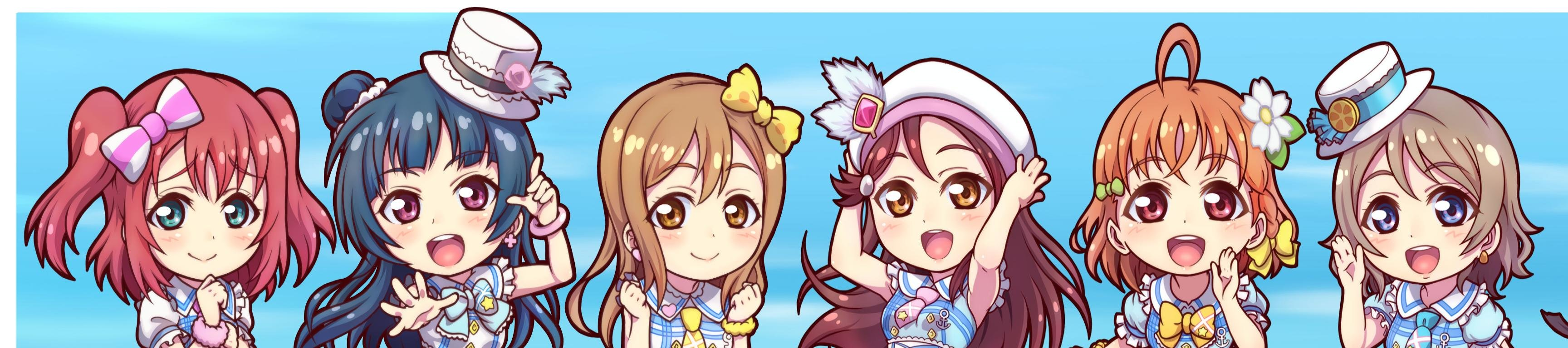 High resolution Love Live! triple screen 3456x768 wallpaper ID:152424 for computer