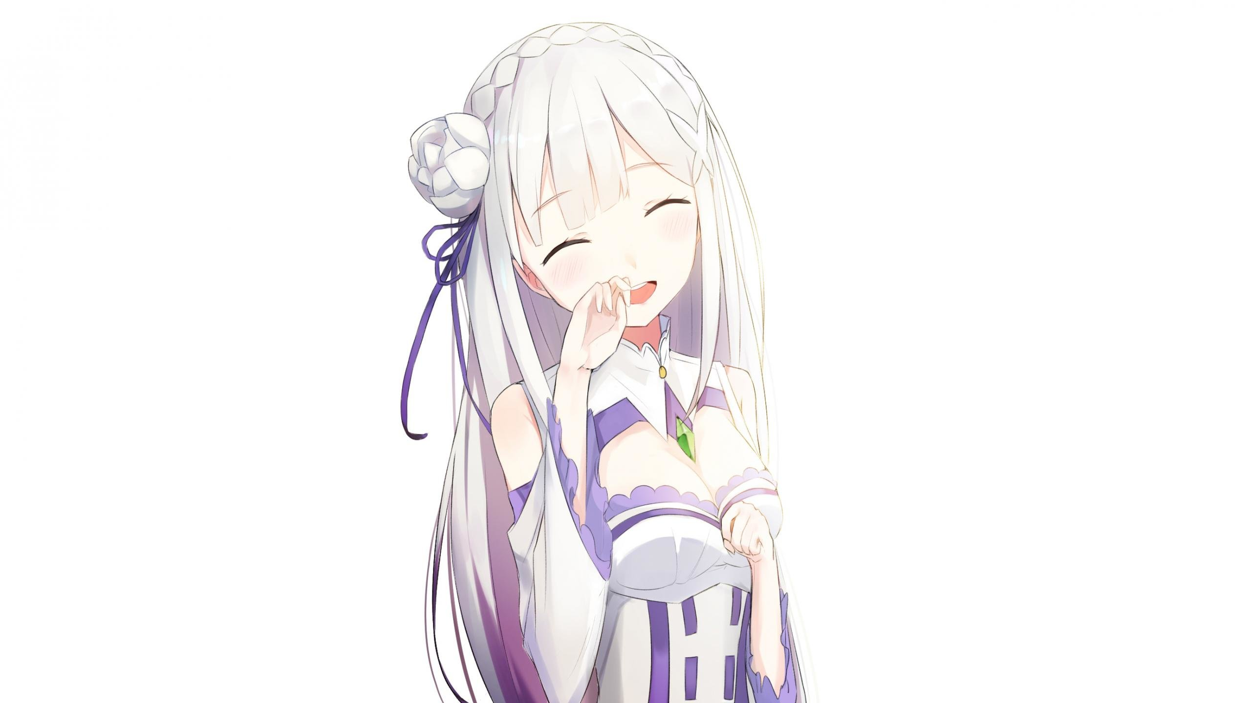 Awesome Emilia Re Zero Free Wallpaper Id 159230 For Hd 2560x1440