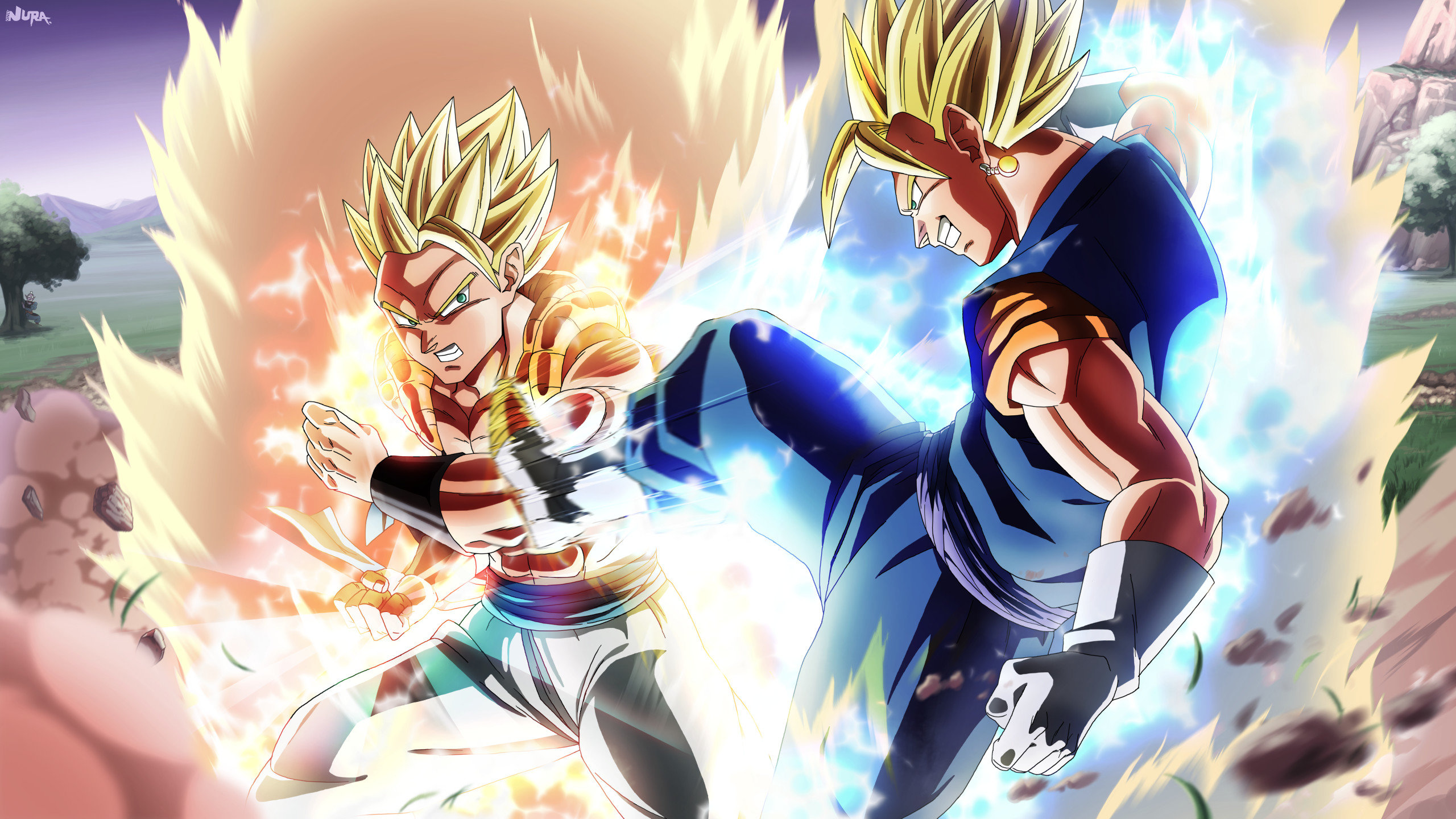 Download hd 2560x1440 Gogeta (Dragon Ball) PC background ID:461985 for free