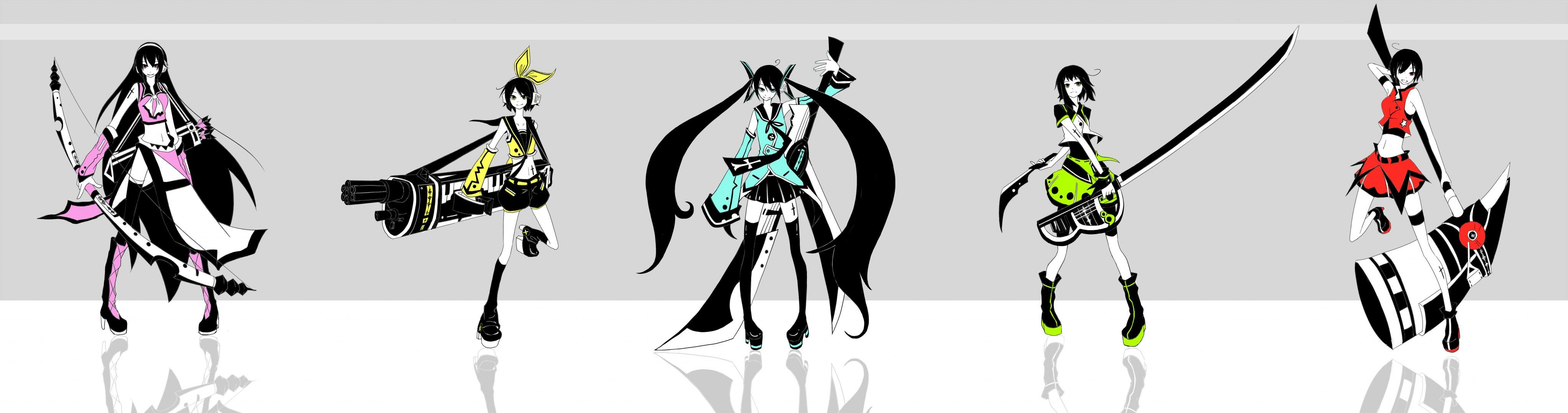 Free Vocaloid high quality background ID:4516 for dual monitor 4096x1080 PC