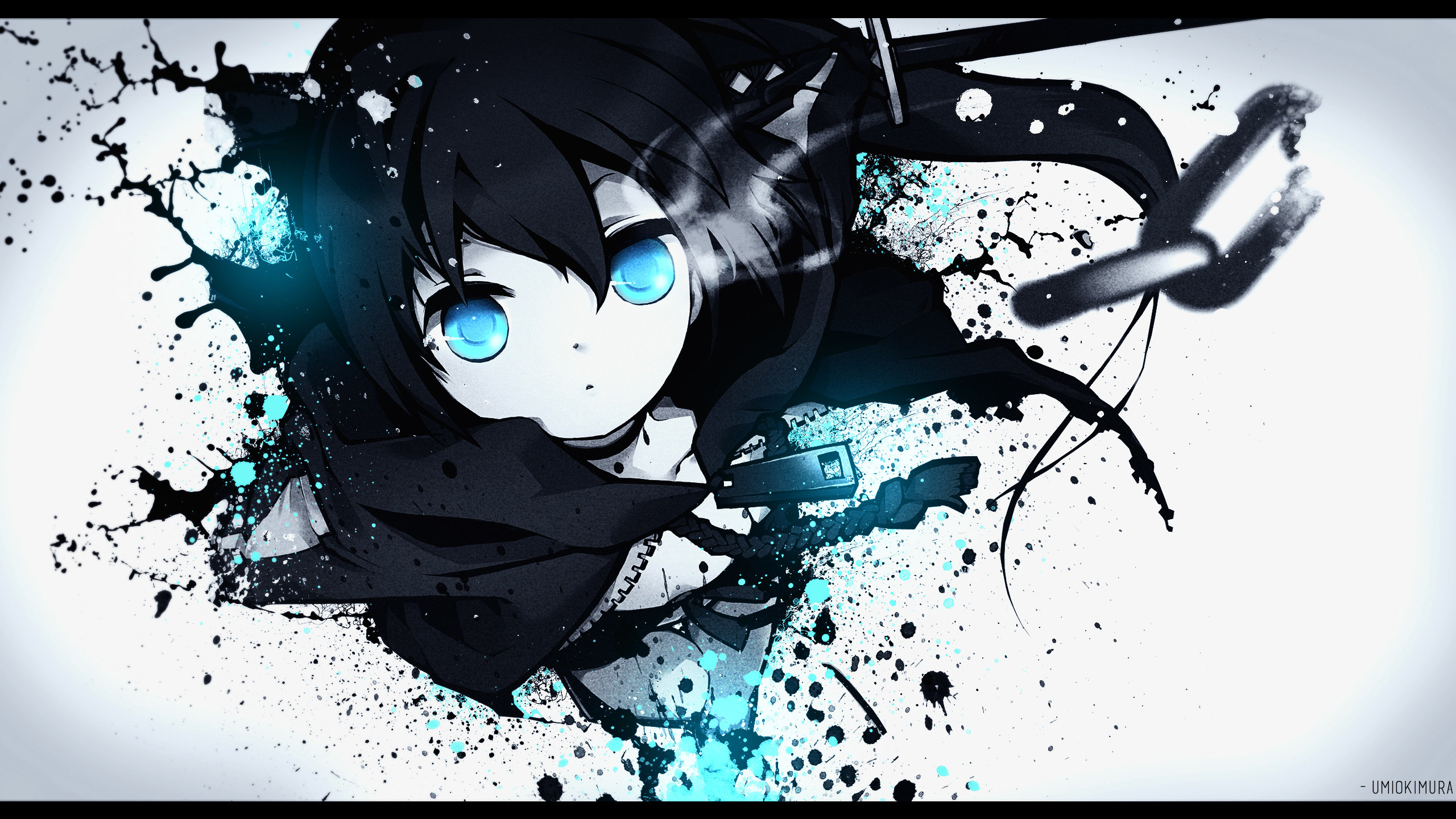 Free download Black Rock Shooter background ID:454834 hd 2560x1440 for PC