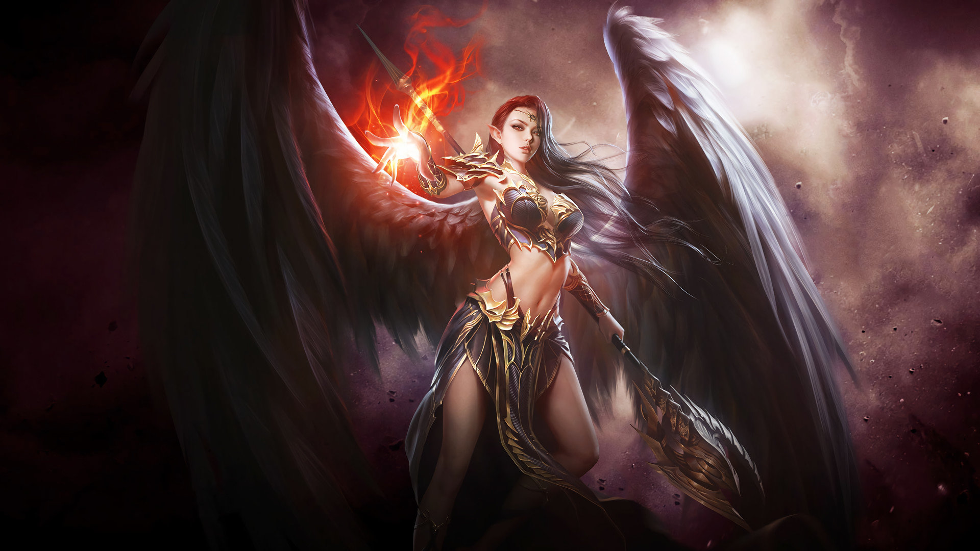 Chica Con Alas De Angel Full Hd En Fondos 1080: Best Angel Warrior Wallpaper ID:352326 For High Resolution