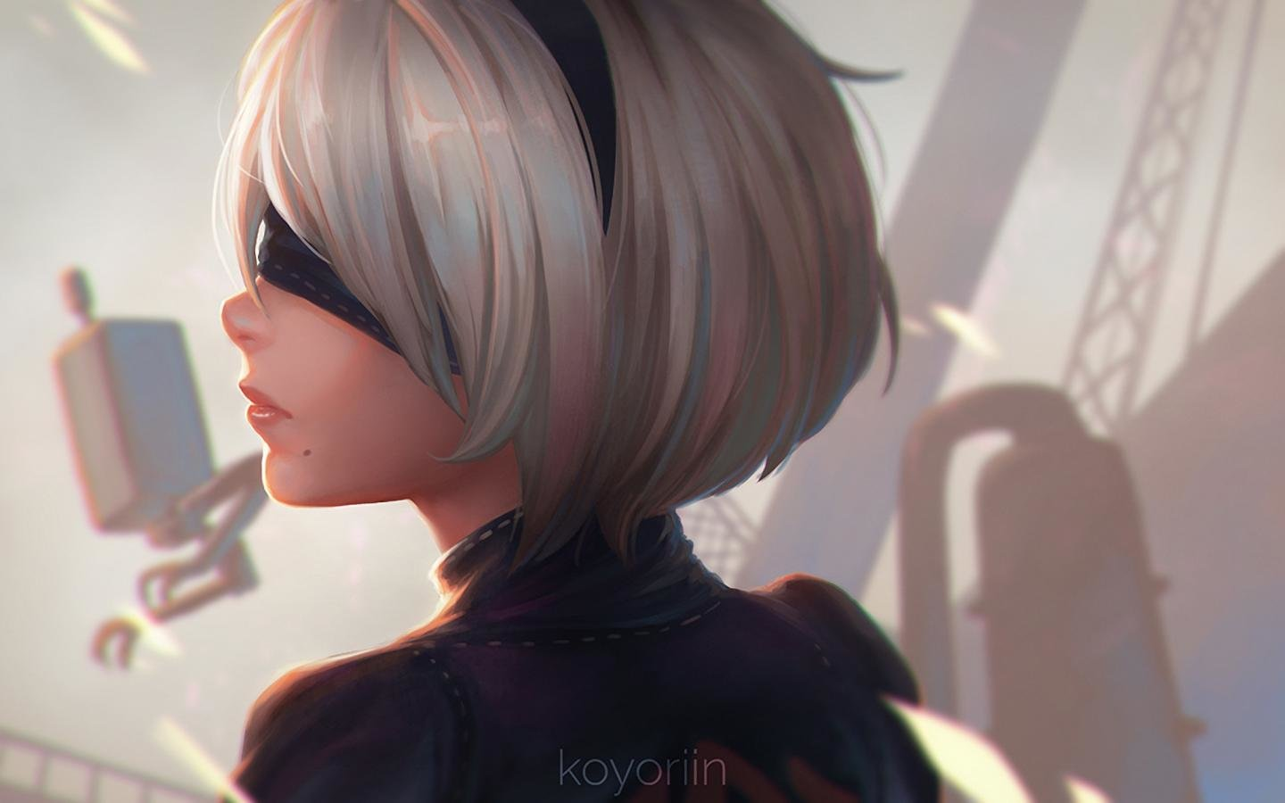 Download hd 1440x900 NieR: Automata PC background ID:449051 for free
