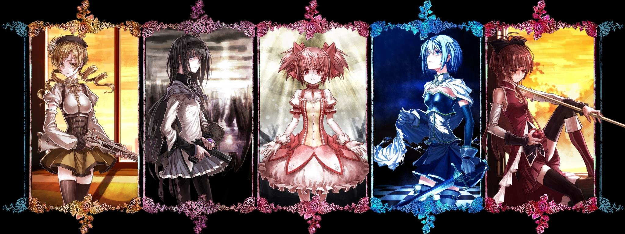 Free download Puella Magi Madoka Magica background ID:32001 dual screen 2048x768 for PC