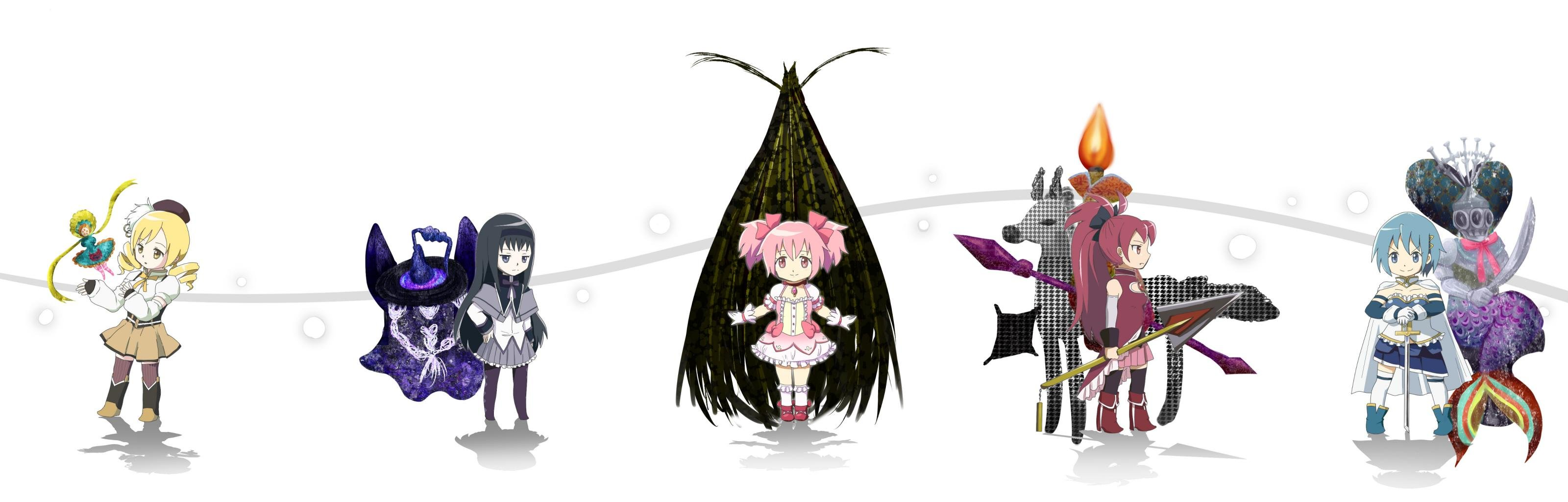 High resolution Puella Magi Madoka Magica dual monitor 3200x1024 wallpaper ID:32174 for desktop