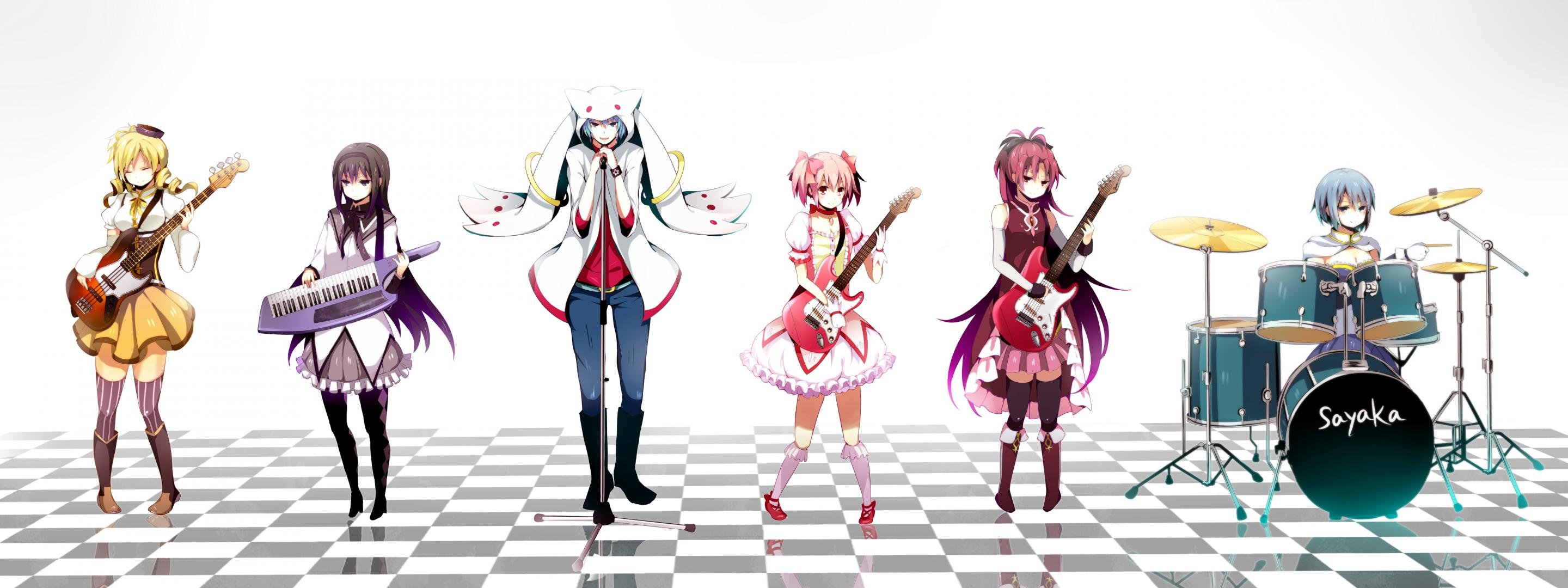 Free Puella Magi Madoka Magica high quality wallpaper ID:32205 for dual screen 2880x1080 desktop