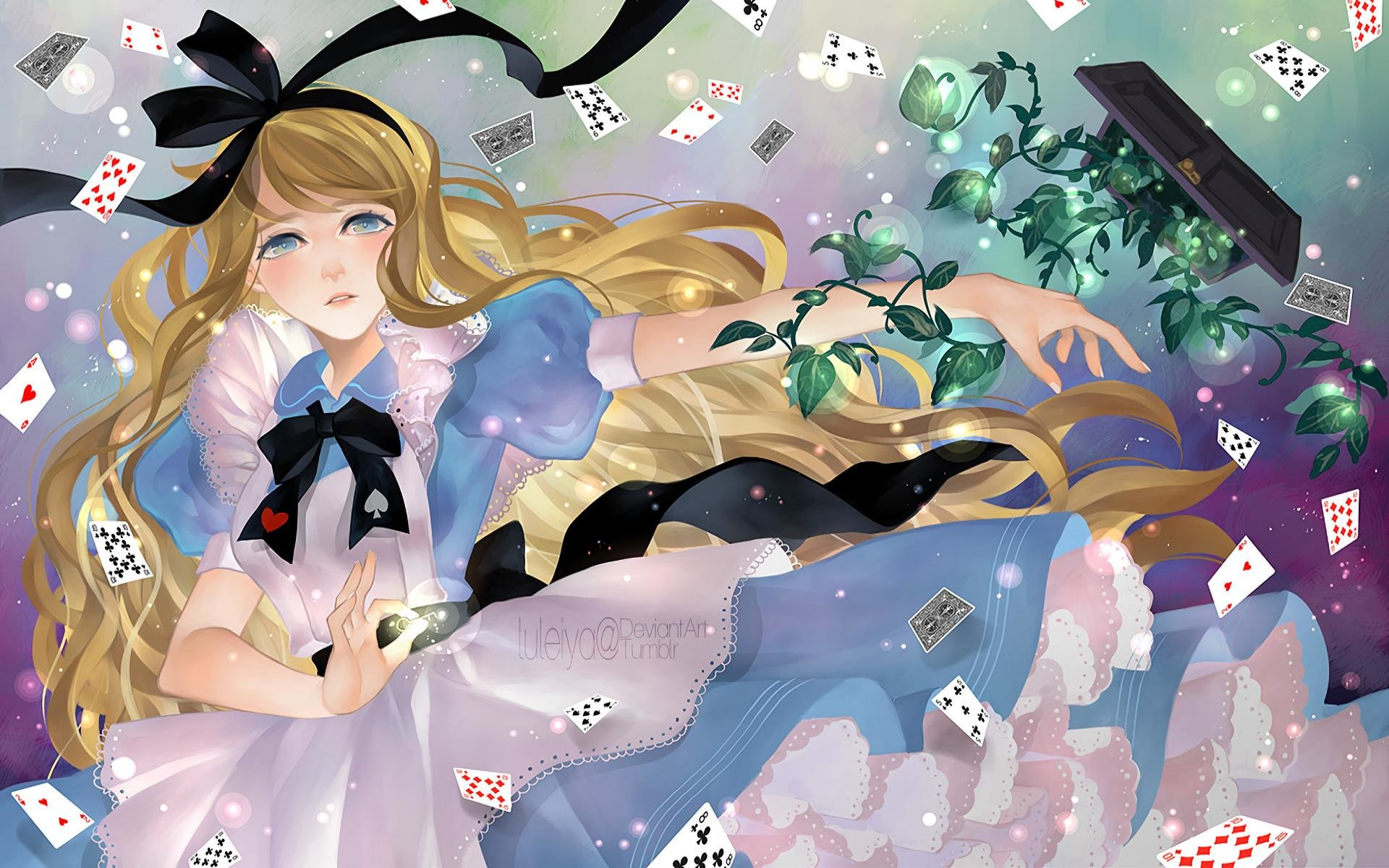 download hd 1920x1200 alice in wonderland anime computer background