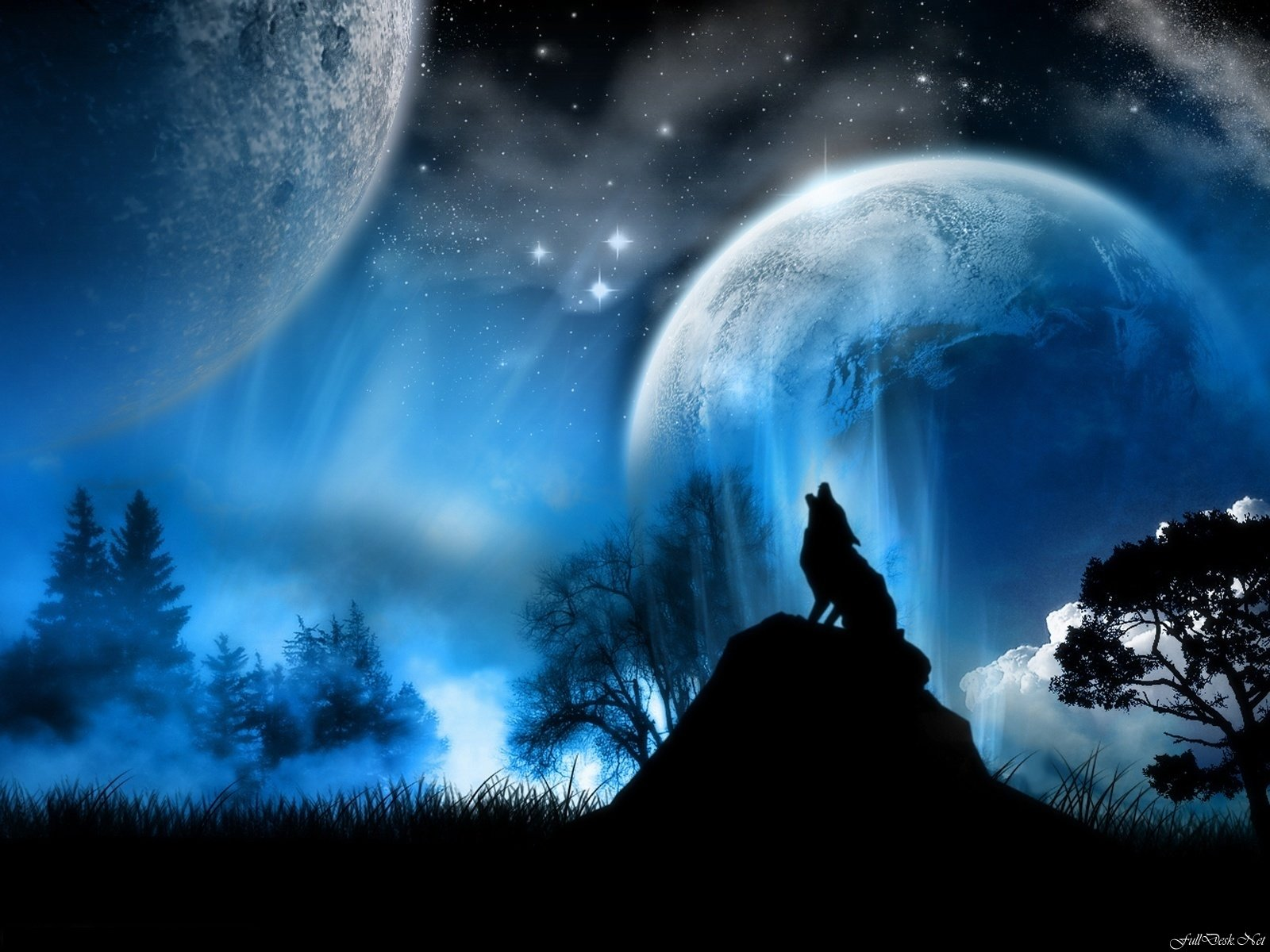 Free Wolf Fantasy high quality background ID:346504 for hd 1600x1200 computer