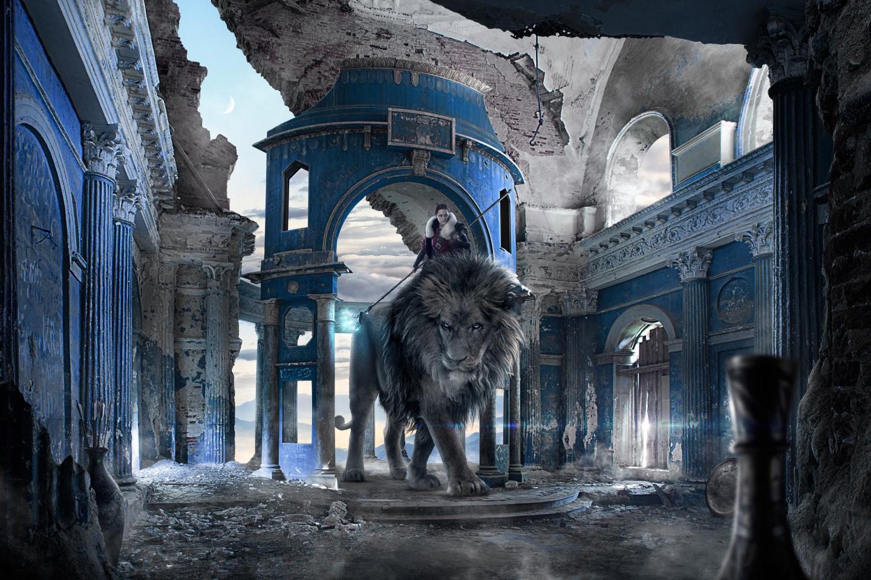 download hd 1440x960 lion fantasy desktop wallpaper id:443867 for free