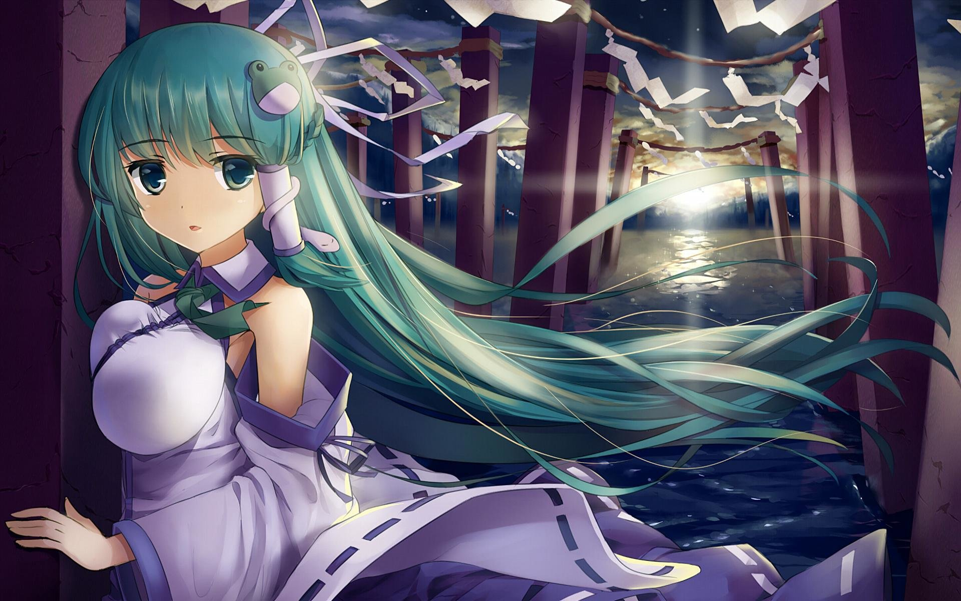 Awesome Sanae Kochiya free wallpaper ID:220482 for hd 1920x1200 PC