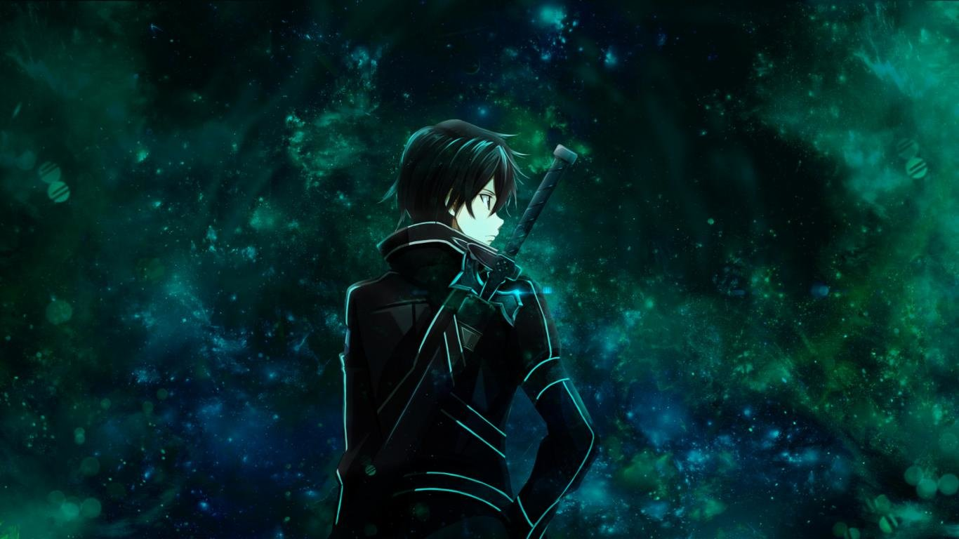 Best Kirito (SAO) background ID:181145 for High Resolution 1366x768 laptop computer