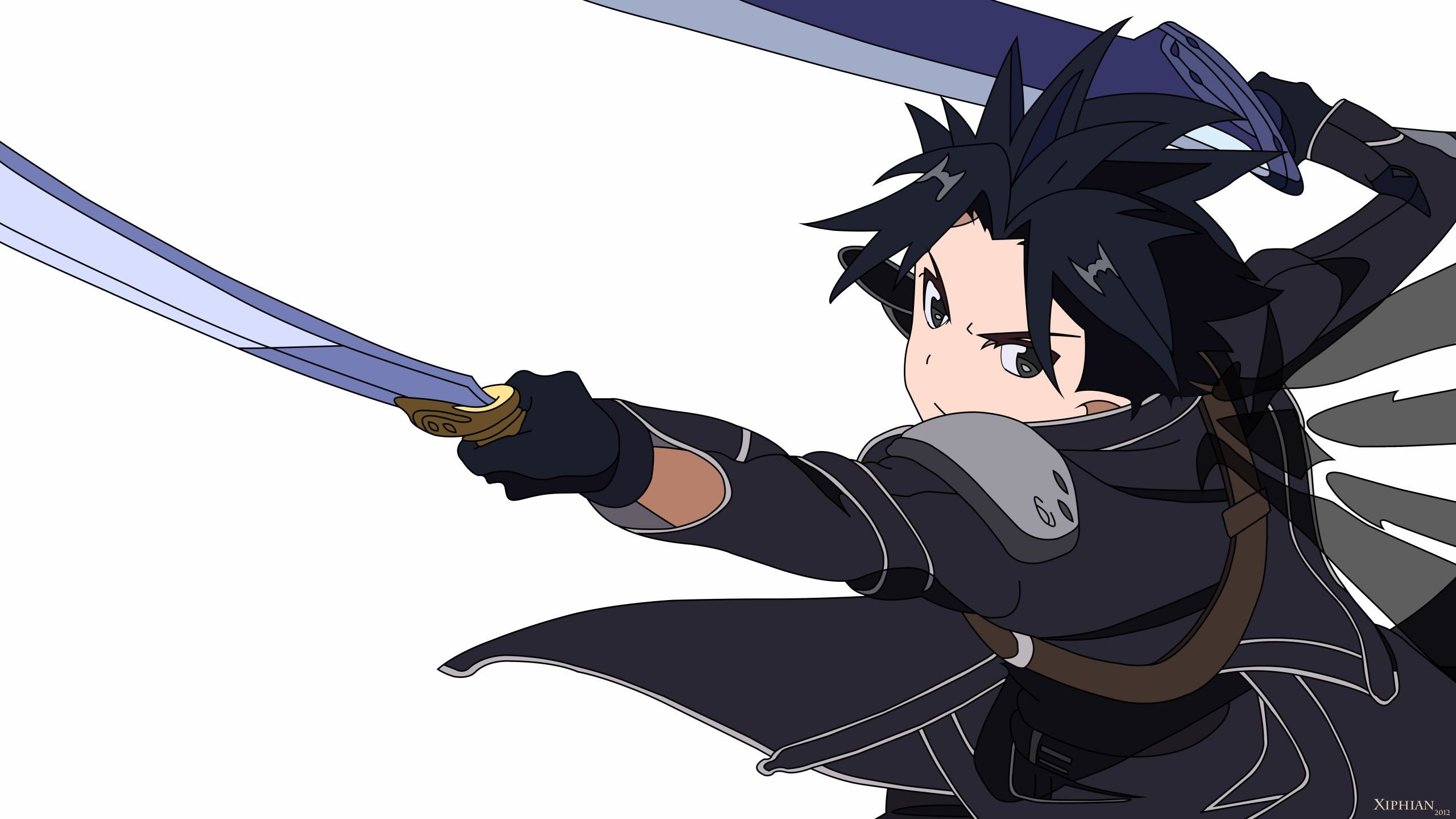 Download hd 2560x1440 Kirito (SAO) desktop background ID:181931 for free