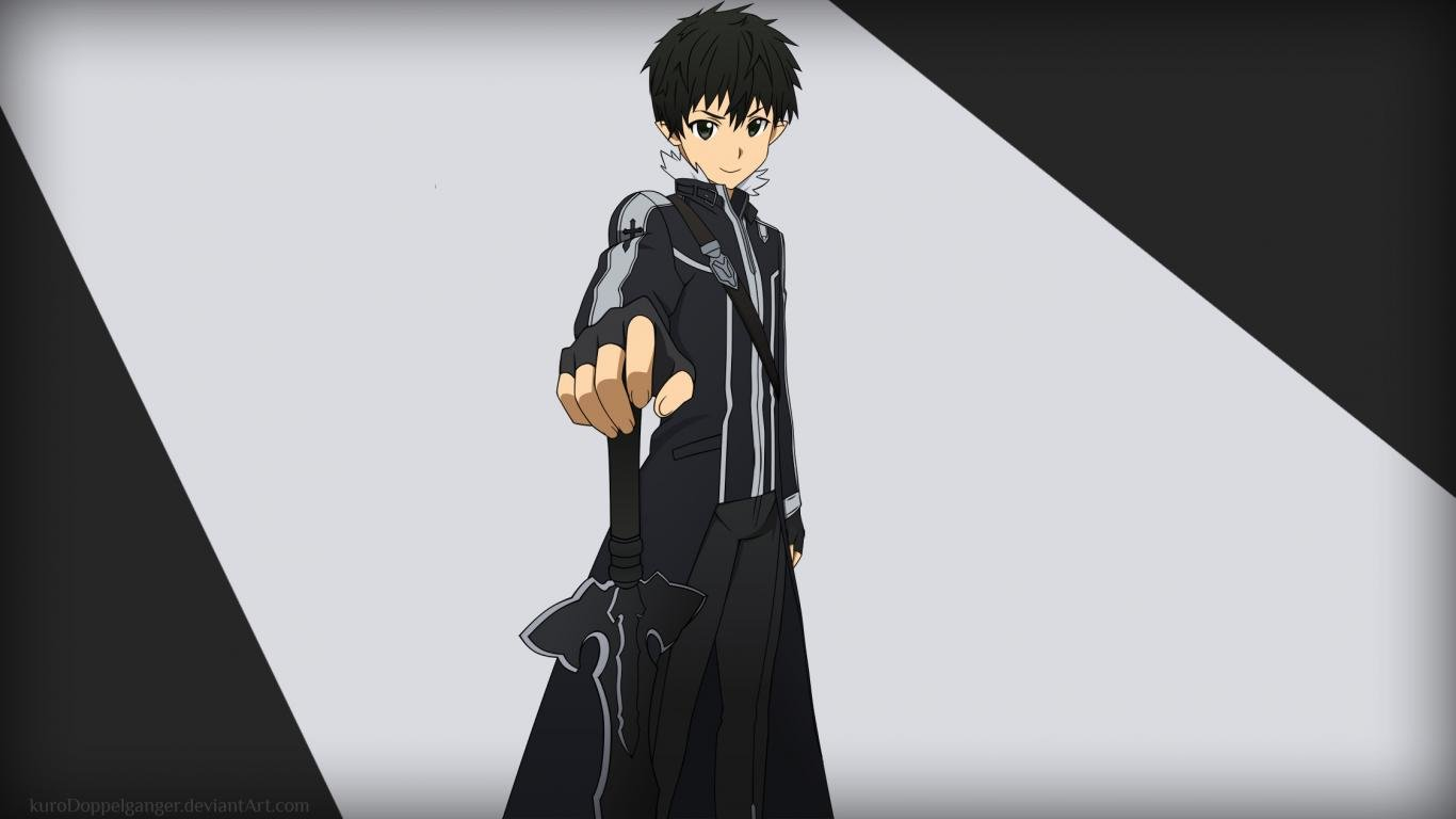 Download laptop Kirito (SAO) computer background ID:181960 for free