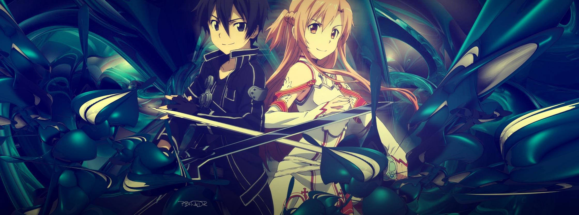 Best Sword Art Online (SAO) background ID:181720 for High Resolution dual screen 2240x832 PC