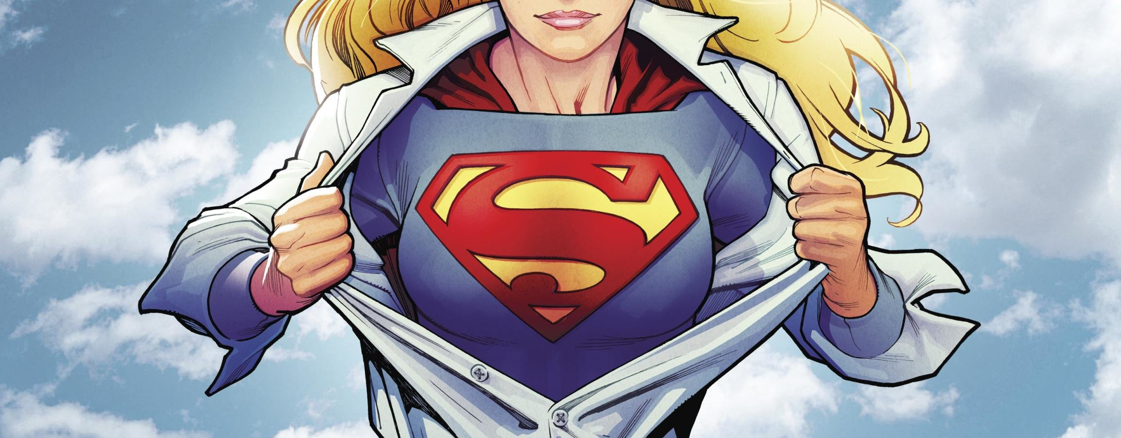 Awesome Supergirl free wallpaper ID:26200 for dual monitor 2304x900 PC