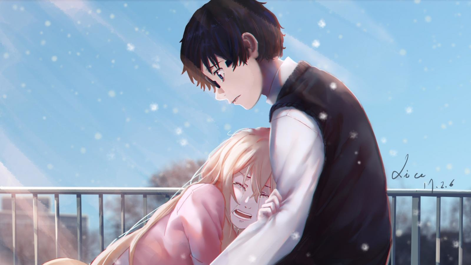 Your Lie In April Wallpapers 1600x900 Desktop Backgrounds
